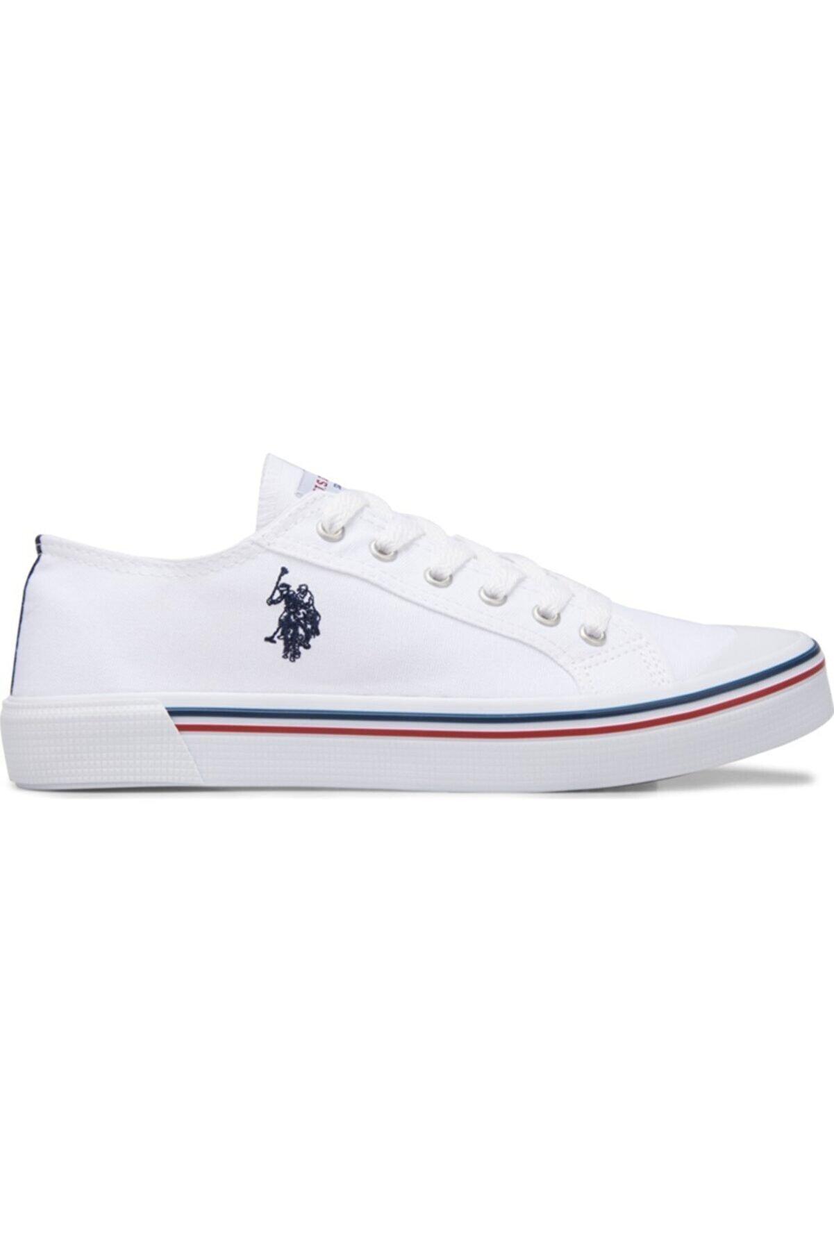 US Polo Assn Kadın Beyaz Penelope Günlük Yürüyüş Spor Ayakkabı