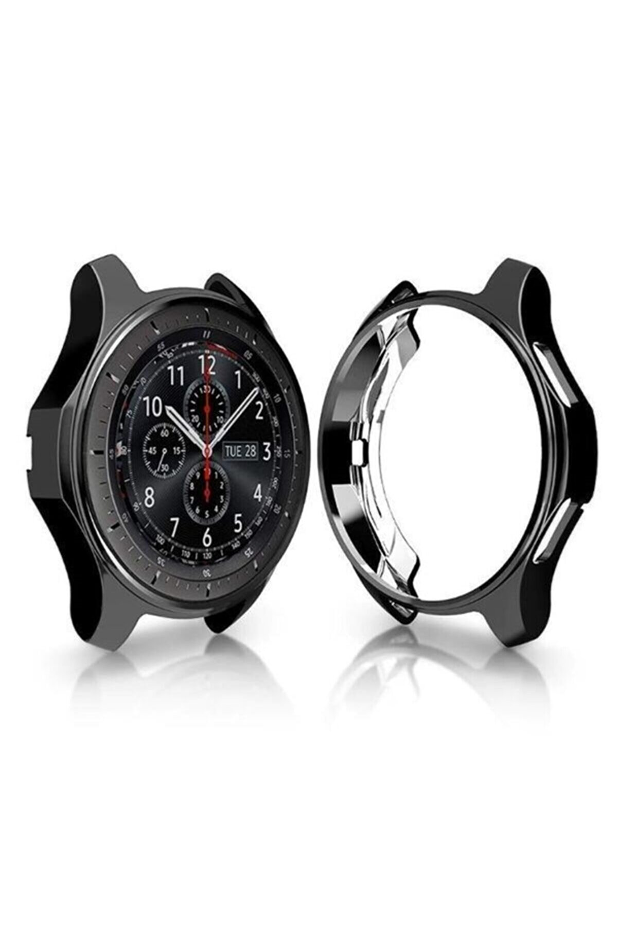 endijital Samsung Galaxy Watch 3 45mm Bumper Koruyucu Silikon Kılıf