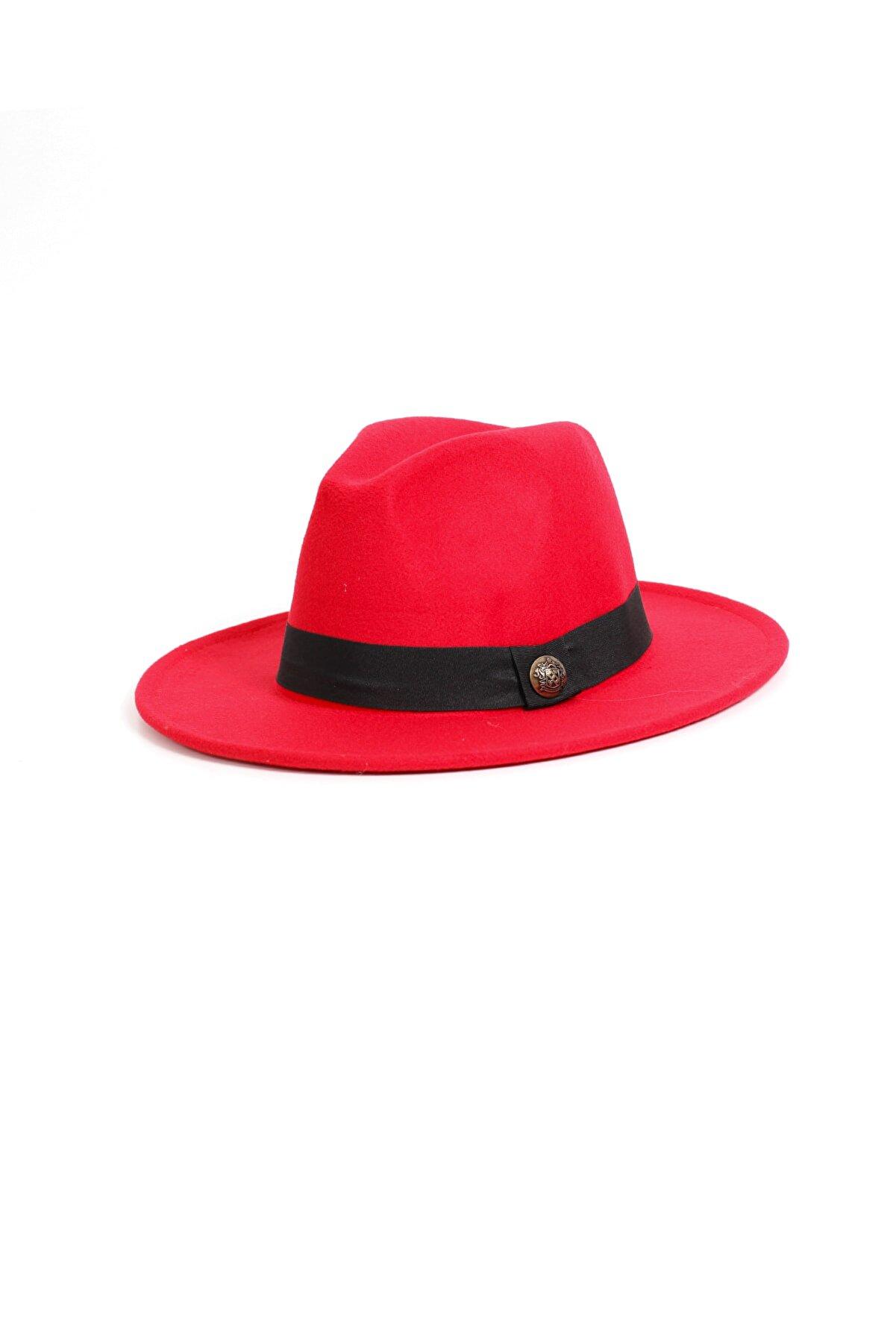 Kapin Kadın Kırmızı Fötr Şapka