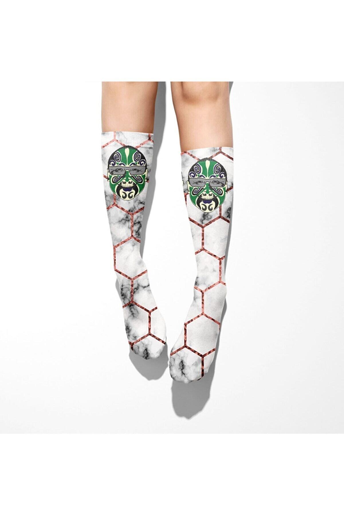 Ogobongo Kadın Beyaz Dizaltı Çorap