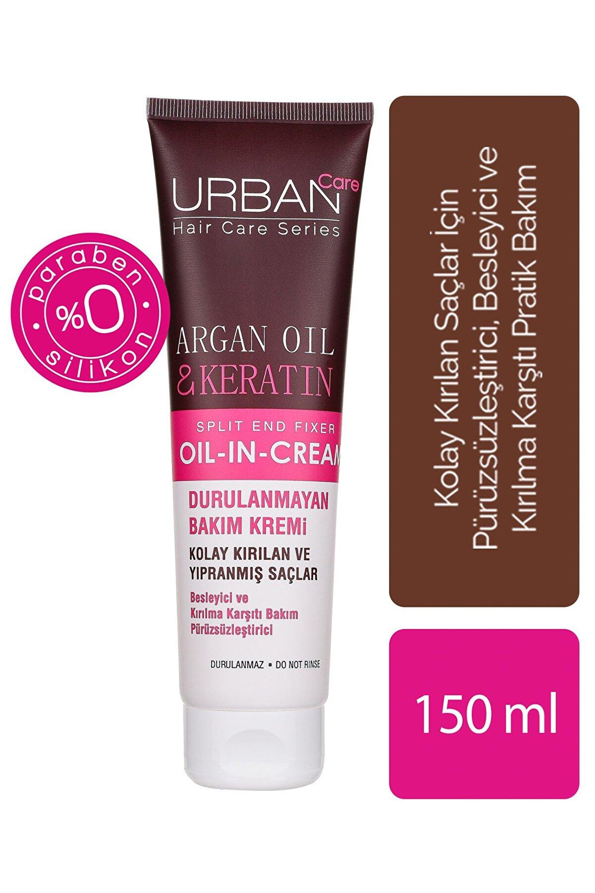 Urban Care Argan Yağı&Keratin İçeren, Besleyici& Kırılma Karşıtı Durulanmayan Saç Kremi 150 ml