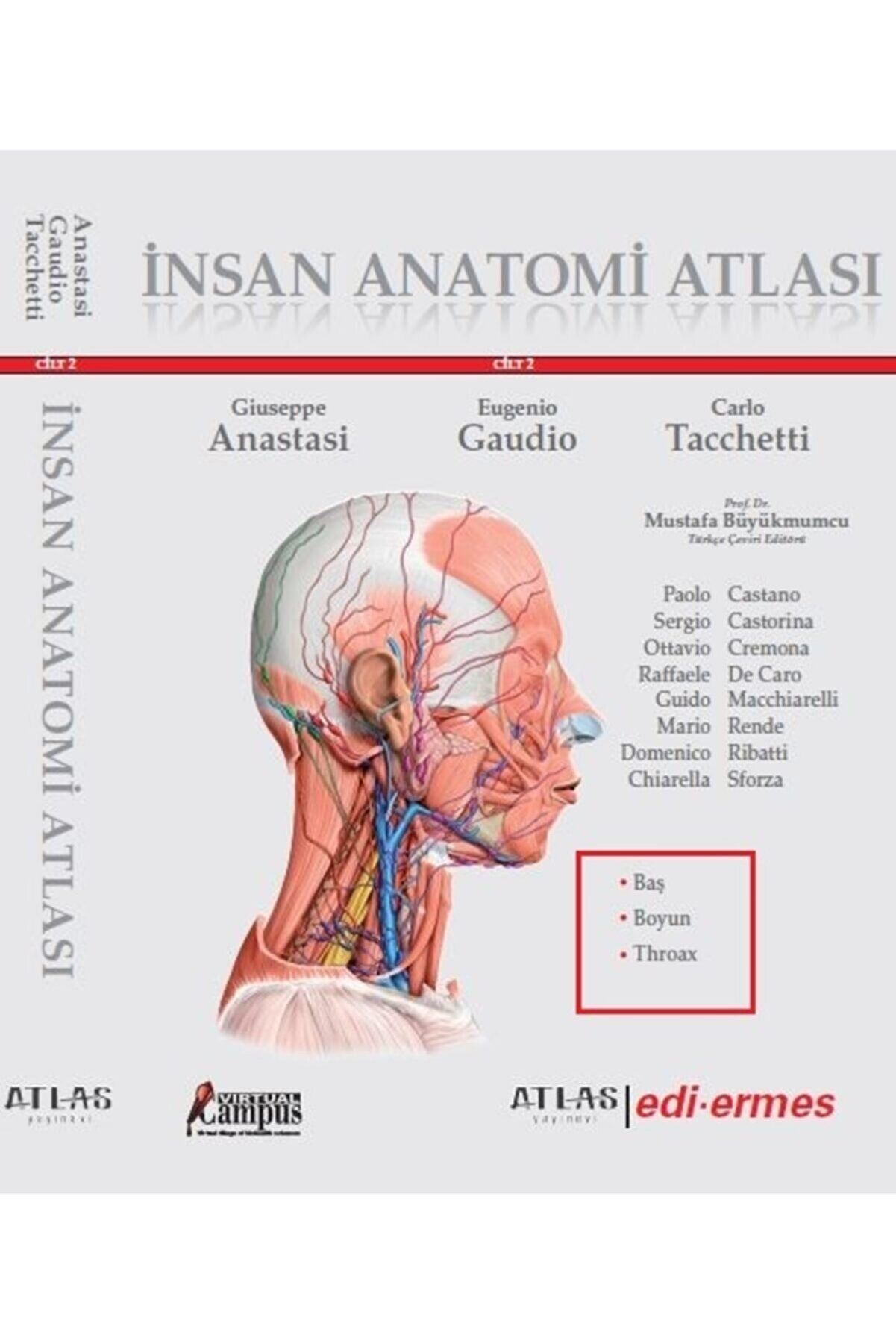 Atlas Tıp Fakültesi Ftr 1. Ve 2. Sınıf Anatomi I Cilt 2 Baş Boyun Nöroanatomi Throax Sobotta Netter