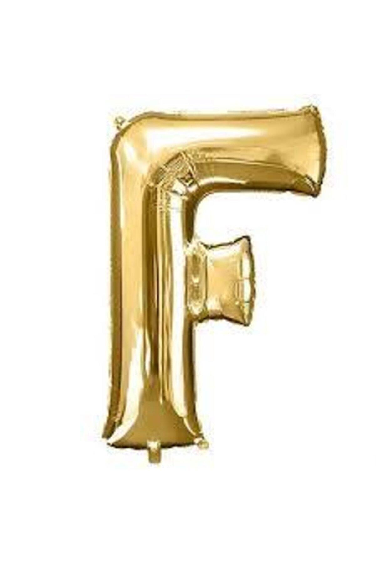 "Deniz Yıldızı Sanat 16"" Inç 40 Cm Folyo Harf Balon Gold F"