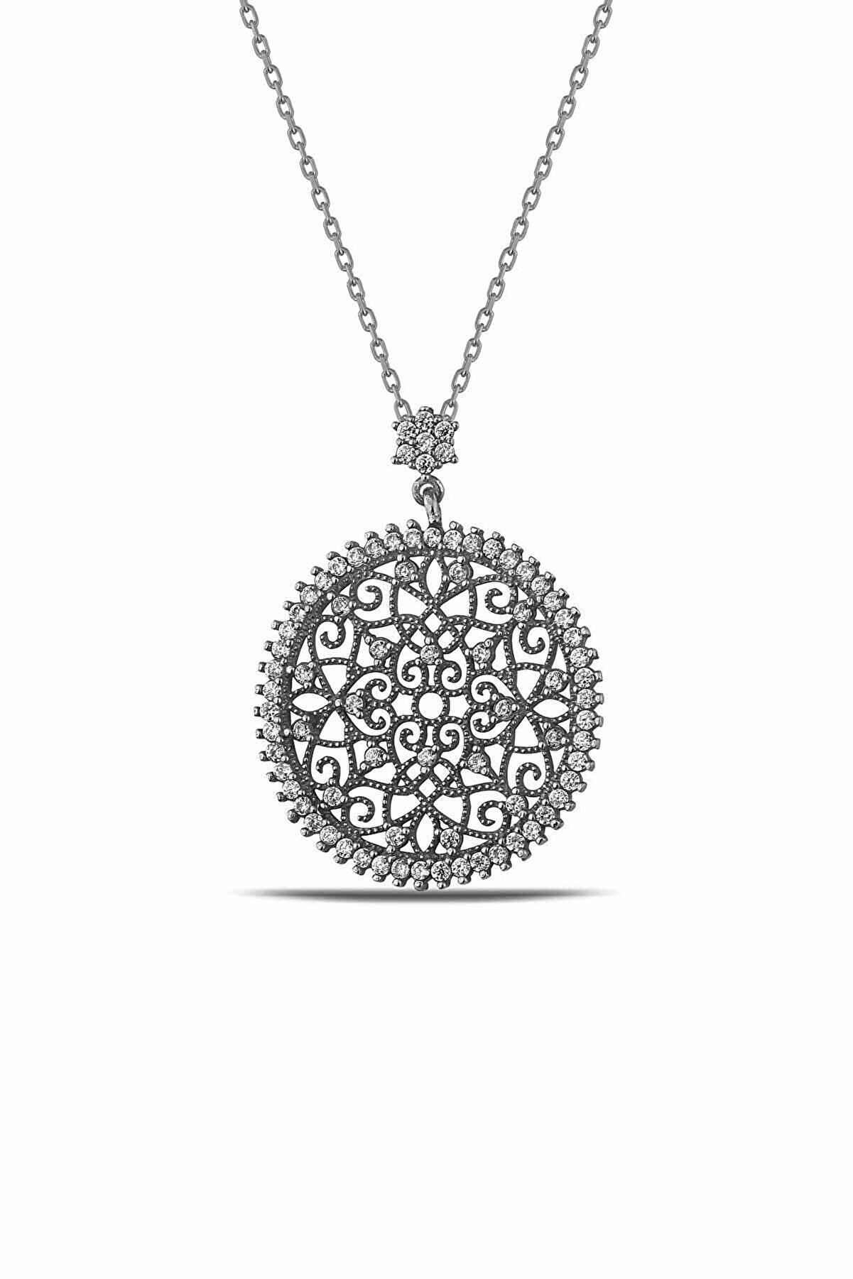 Lia Berto Kadın Yaşam Çiçeği 925 Ayar Gümüş Kolye