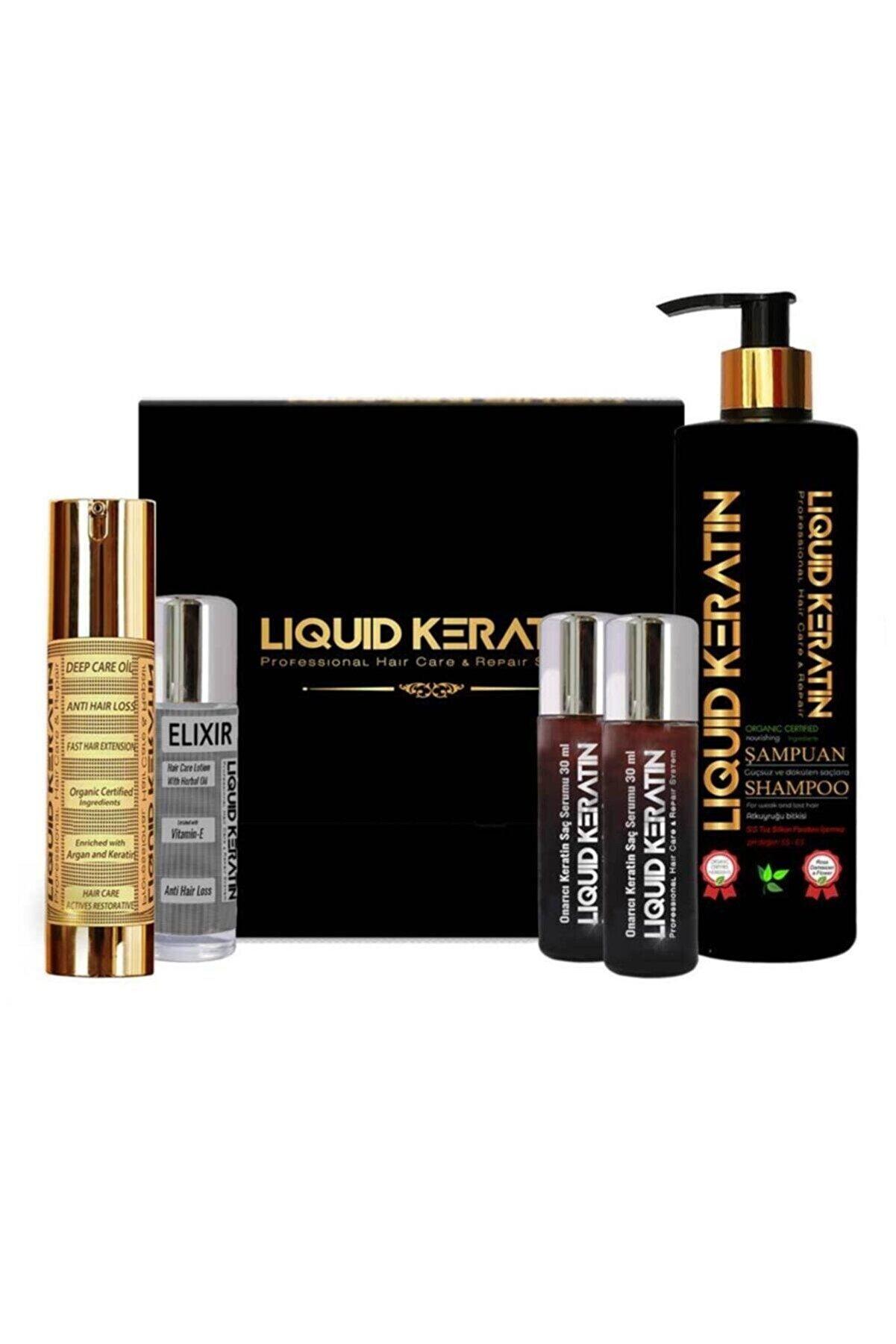 Liquid Keratin Keratin Hızlı Saç Uzatma Seti 5'li