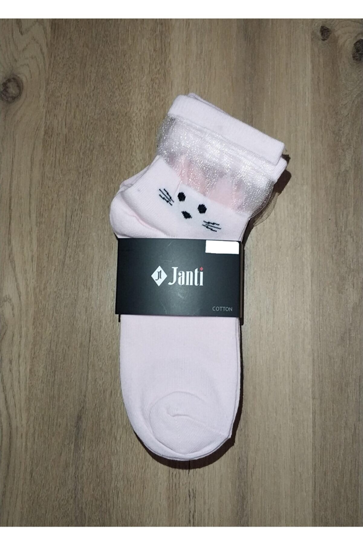 Janti Kız Çocuk Pembe 9'Lu Kısa Çorap Jtkc2001