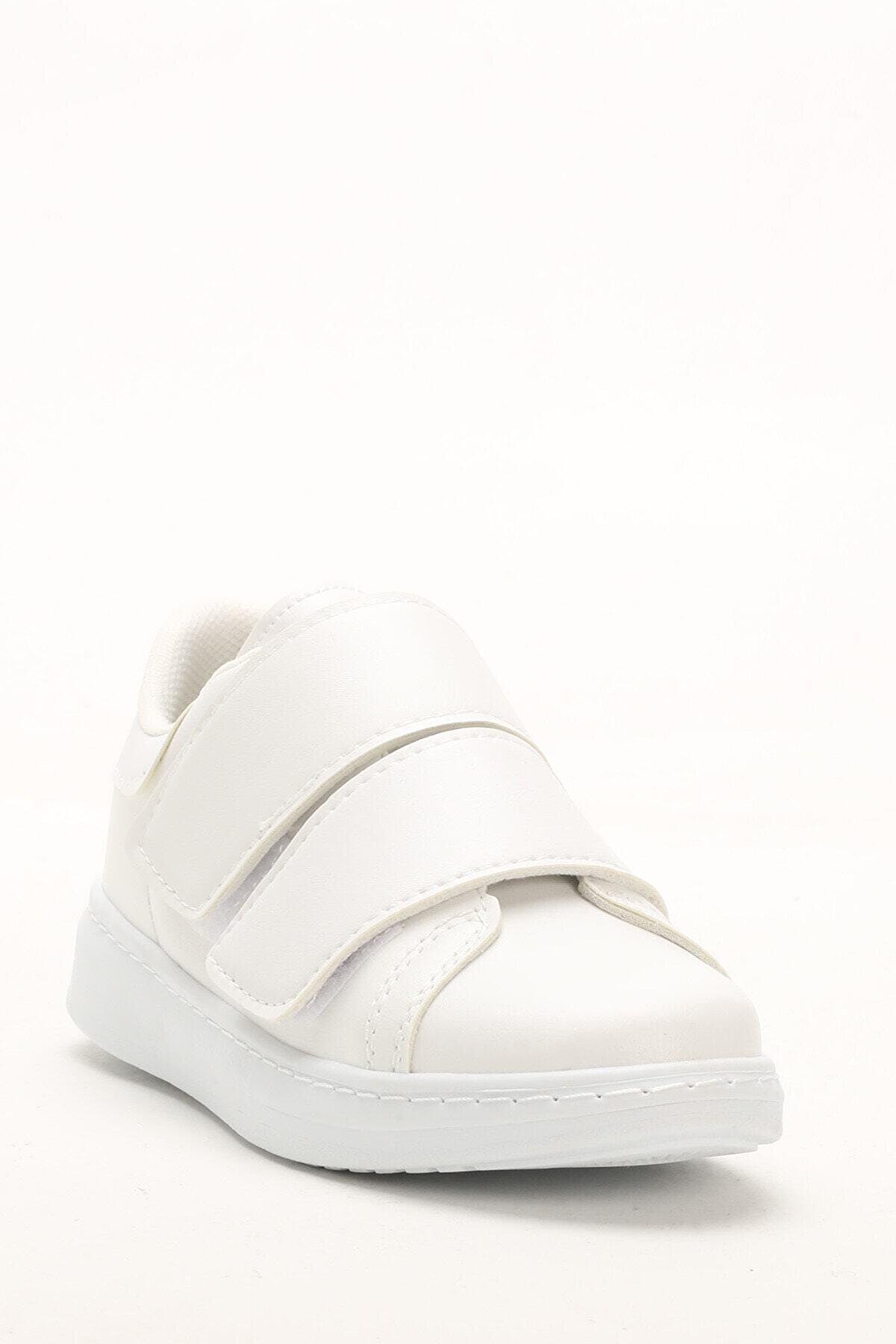 Sportmax Kadın Beyaz Bantlı Kadın Sneaker
