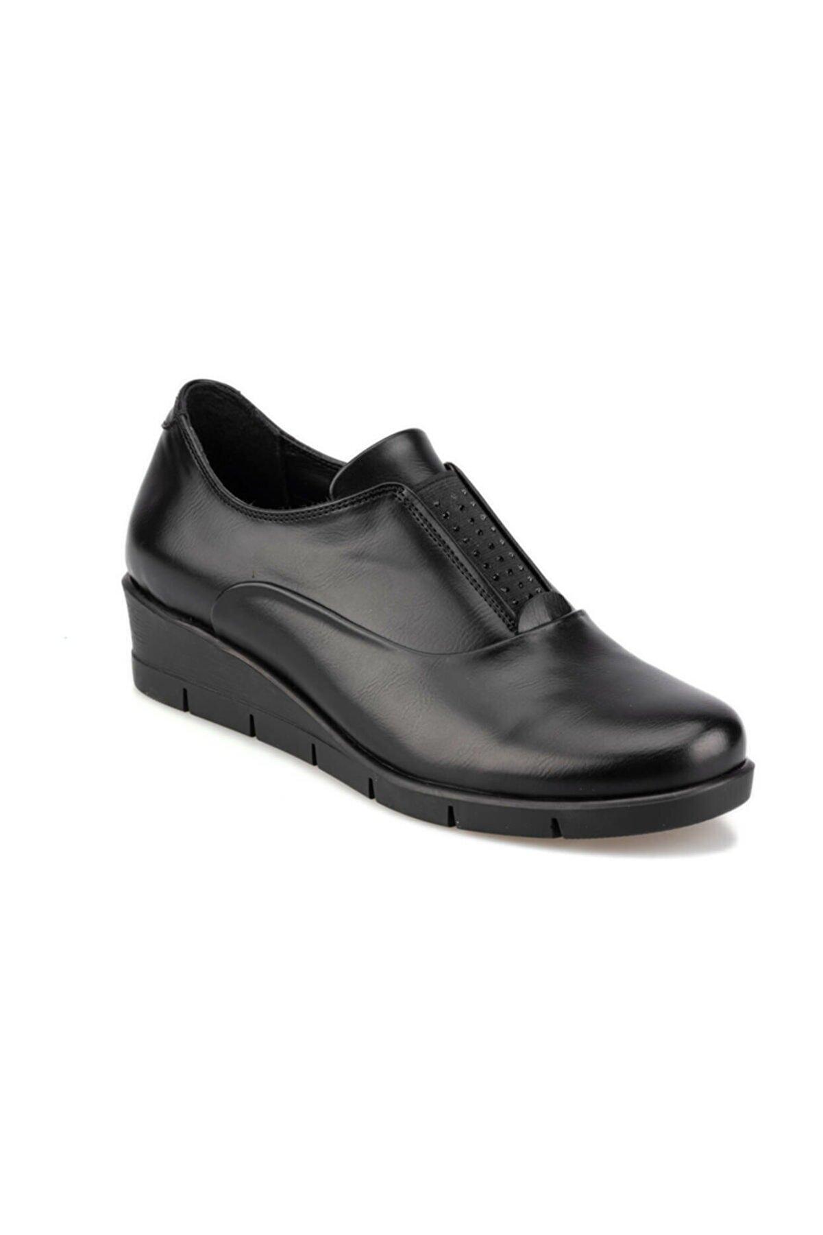Polaris 92.101036CZ Siyah Kadın Dolgu Topuklu Ayakkabı 100428196