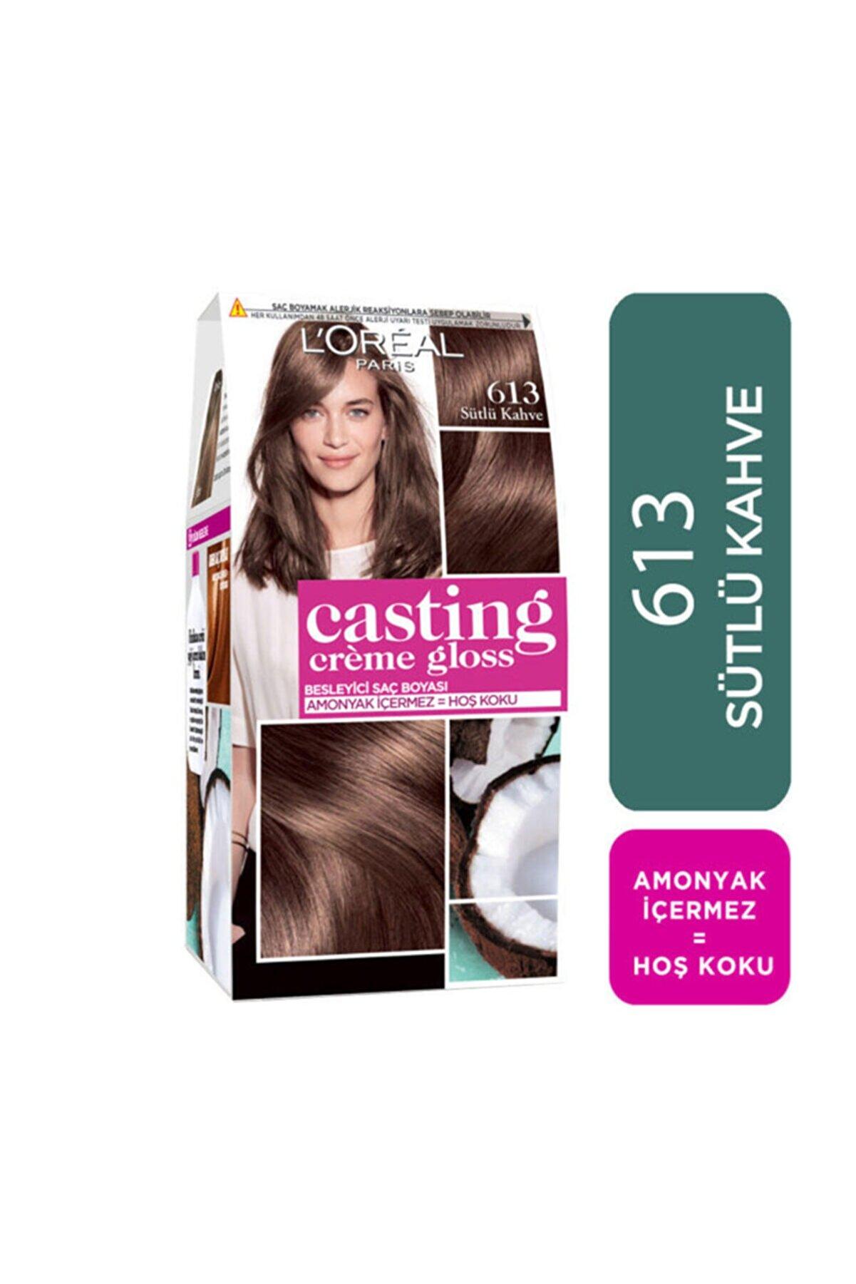 L'Oreal Paris Saç Boyası - Casting Creme Gloss 613 Sütlü Kahve 3600523302888