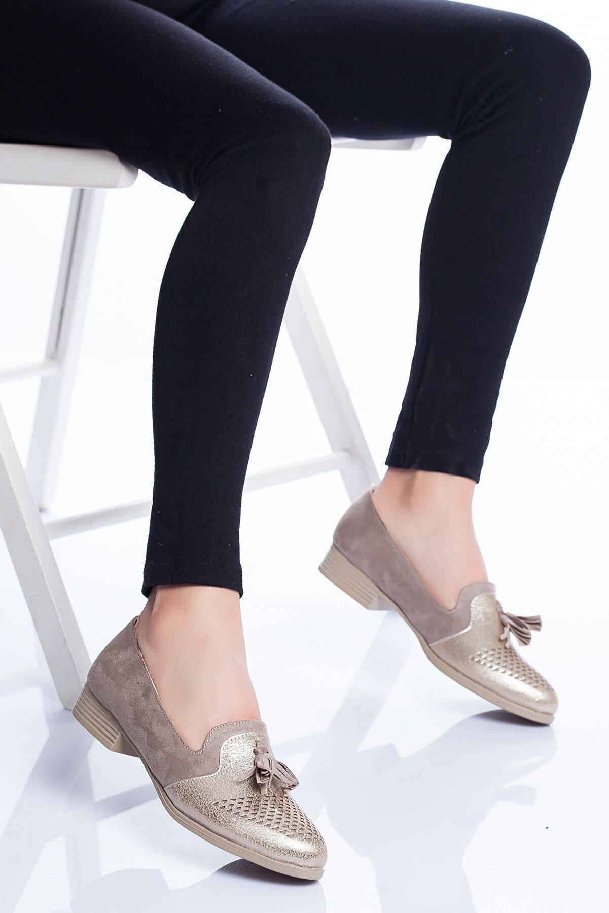 Ayakkabı Frekansı Logan Babet Ayakkabı Vizon Gold