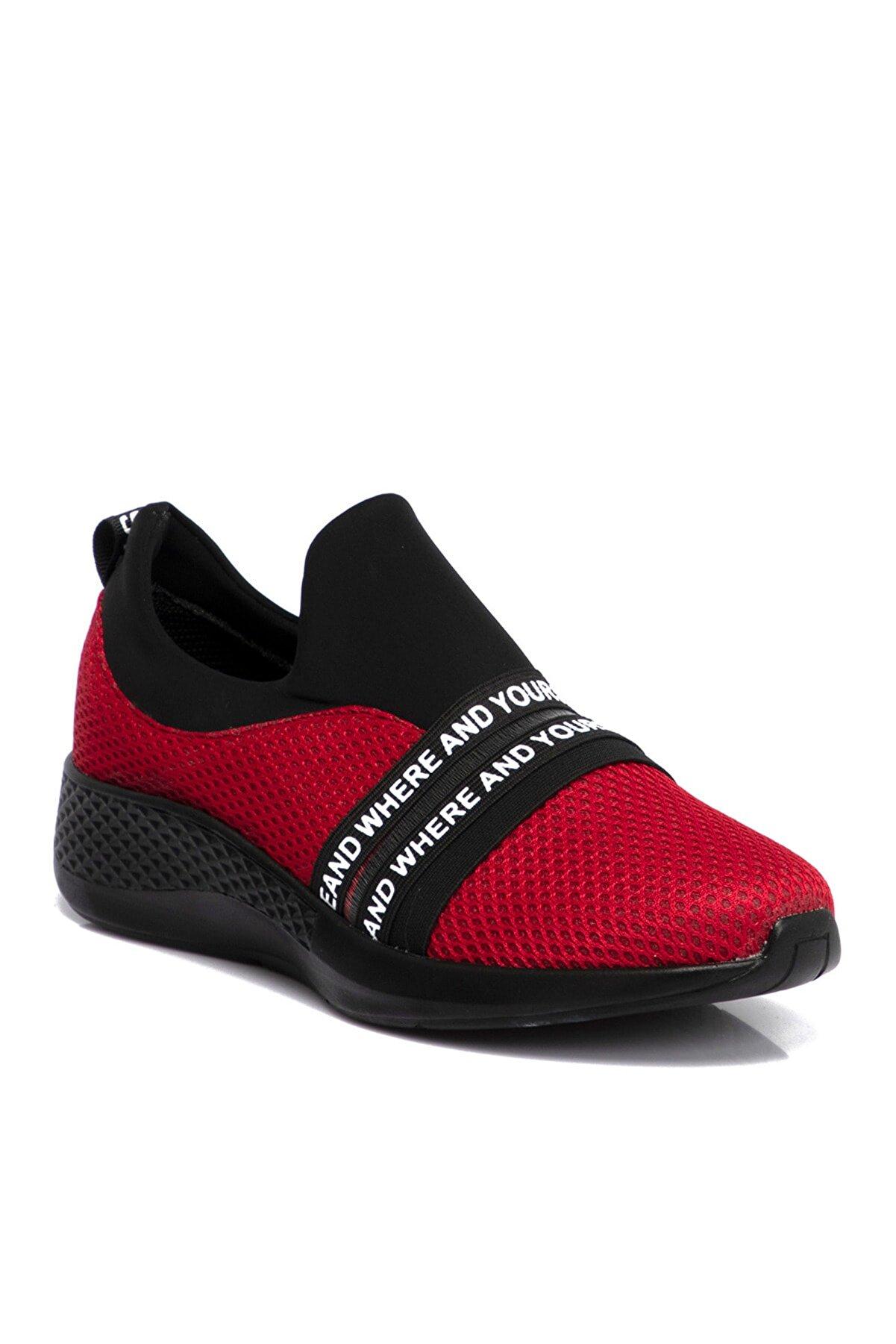 Teryy Kırmızı Tekstil Kadın Ayakkabı 210090d64