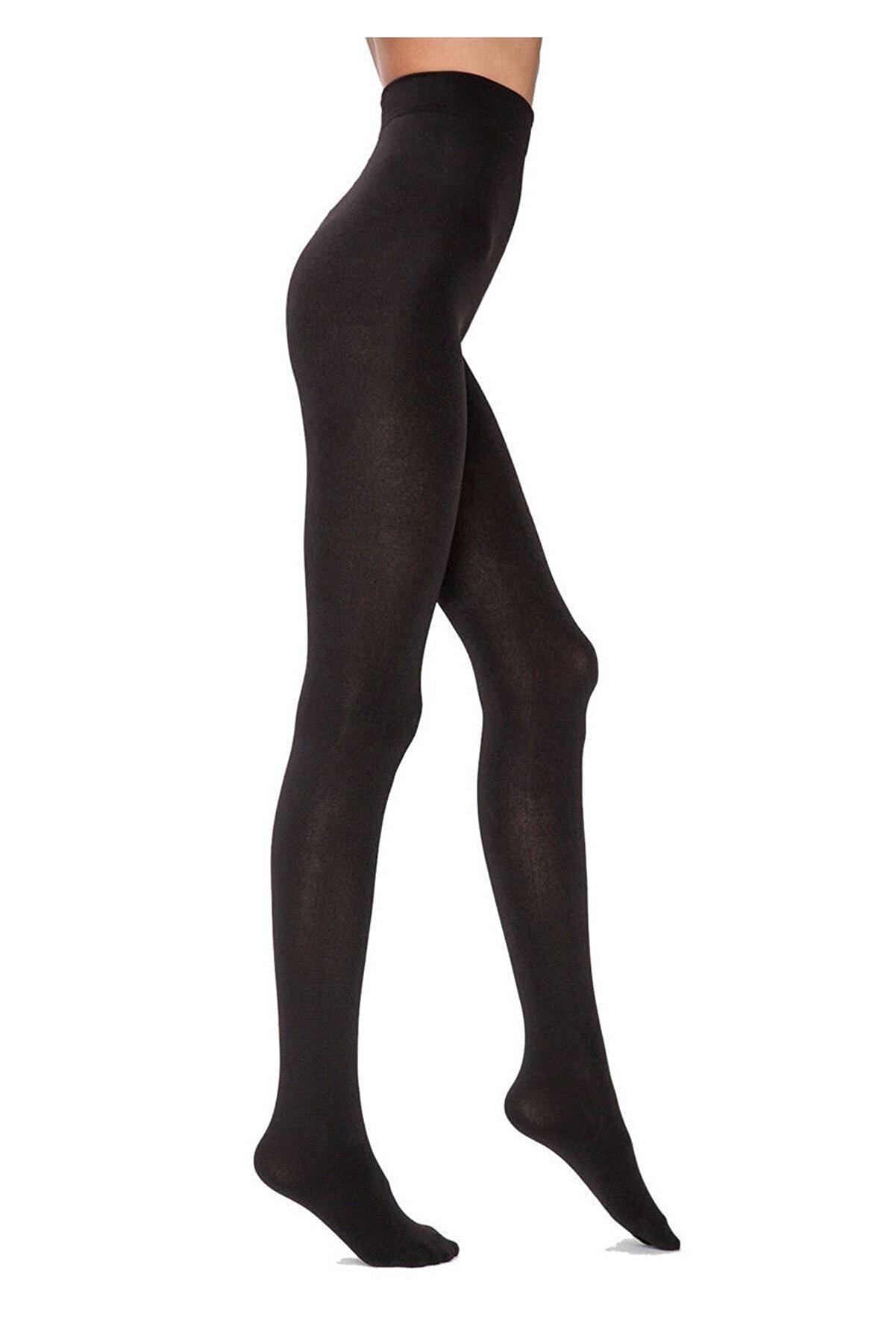 ELBİCA Penti Termal Yüksek Bel Siyah Külotlu Çorap