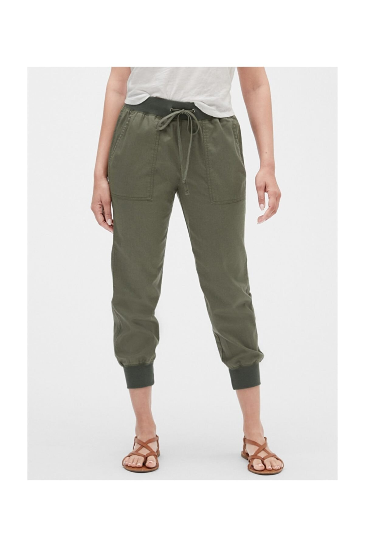 GAP Kadın Yeşil Jogger Pantolon