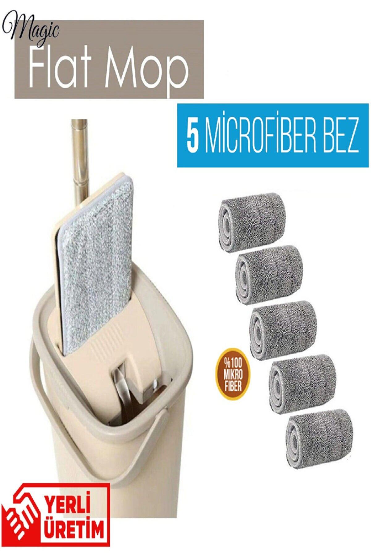 ikraHome Spin Mop Tablet Mop Yeni Nesil Temizlik Kova Paspas Seti +5 Yedek Bez