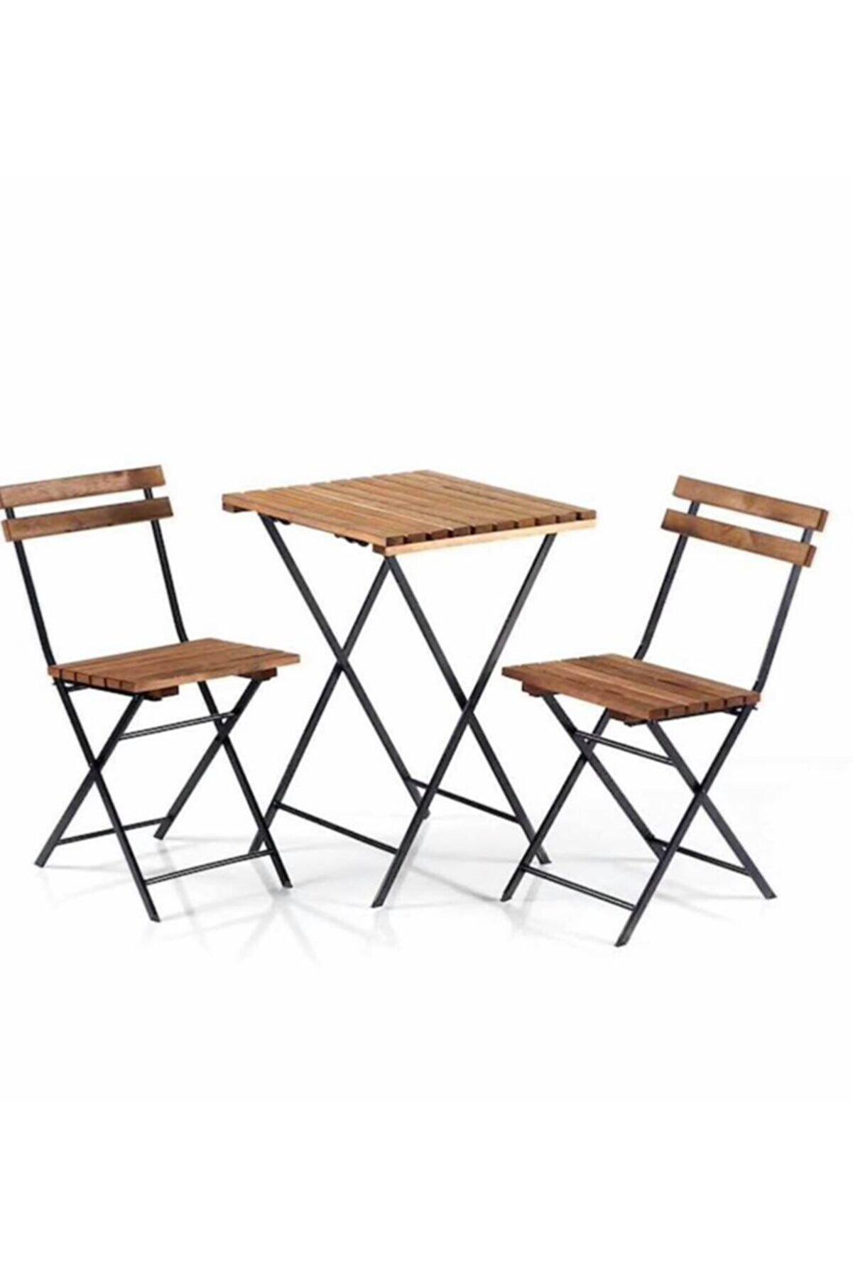 Cosargroup Ikea Model Bistro Seti Bahçe Masa Sandalye Seti 2sandalye 1masa