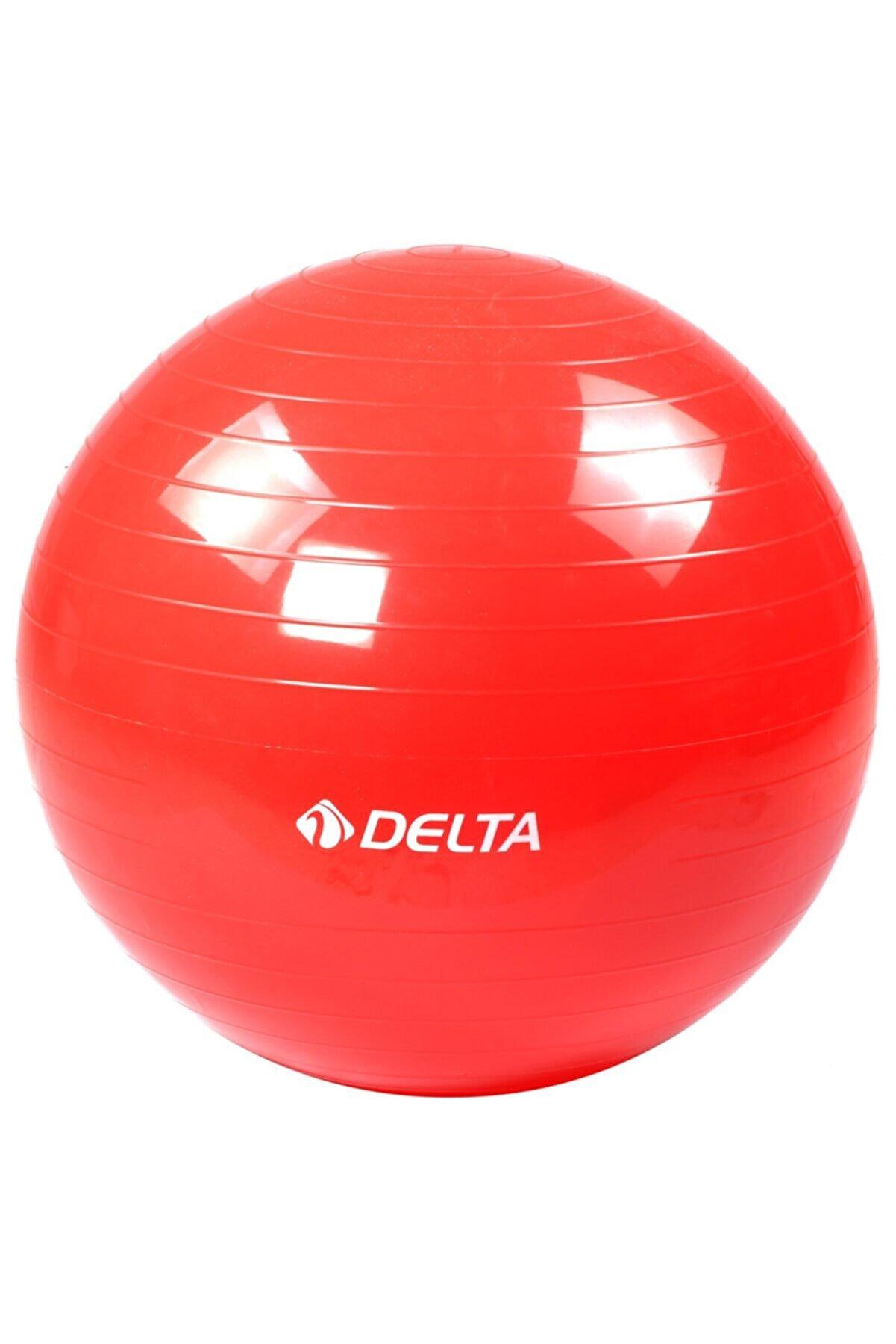 Delta Dura-Strong Deluxe Kırmızı Pilates Topu 55 cm