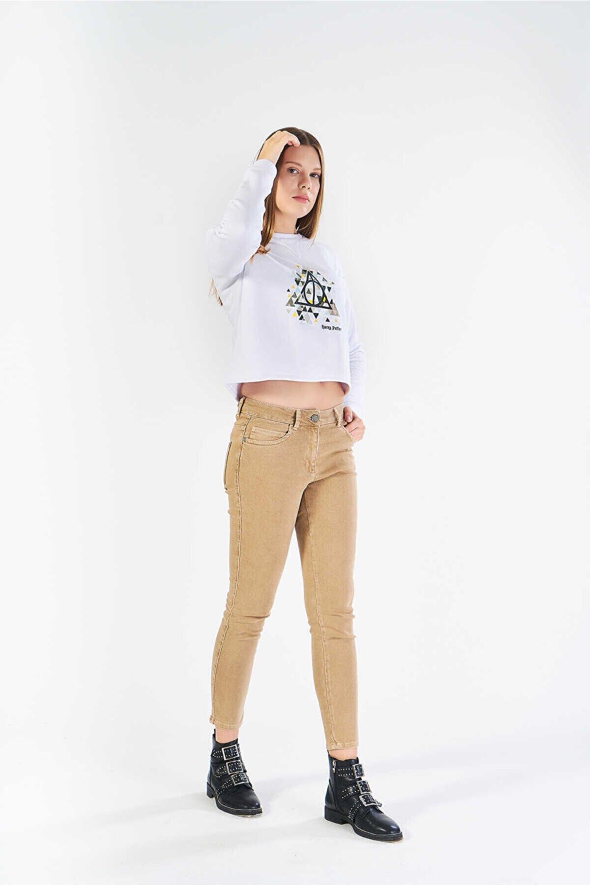 FINGER PRINT Kadın Kahverengi Pantolon