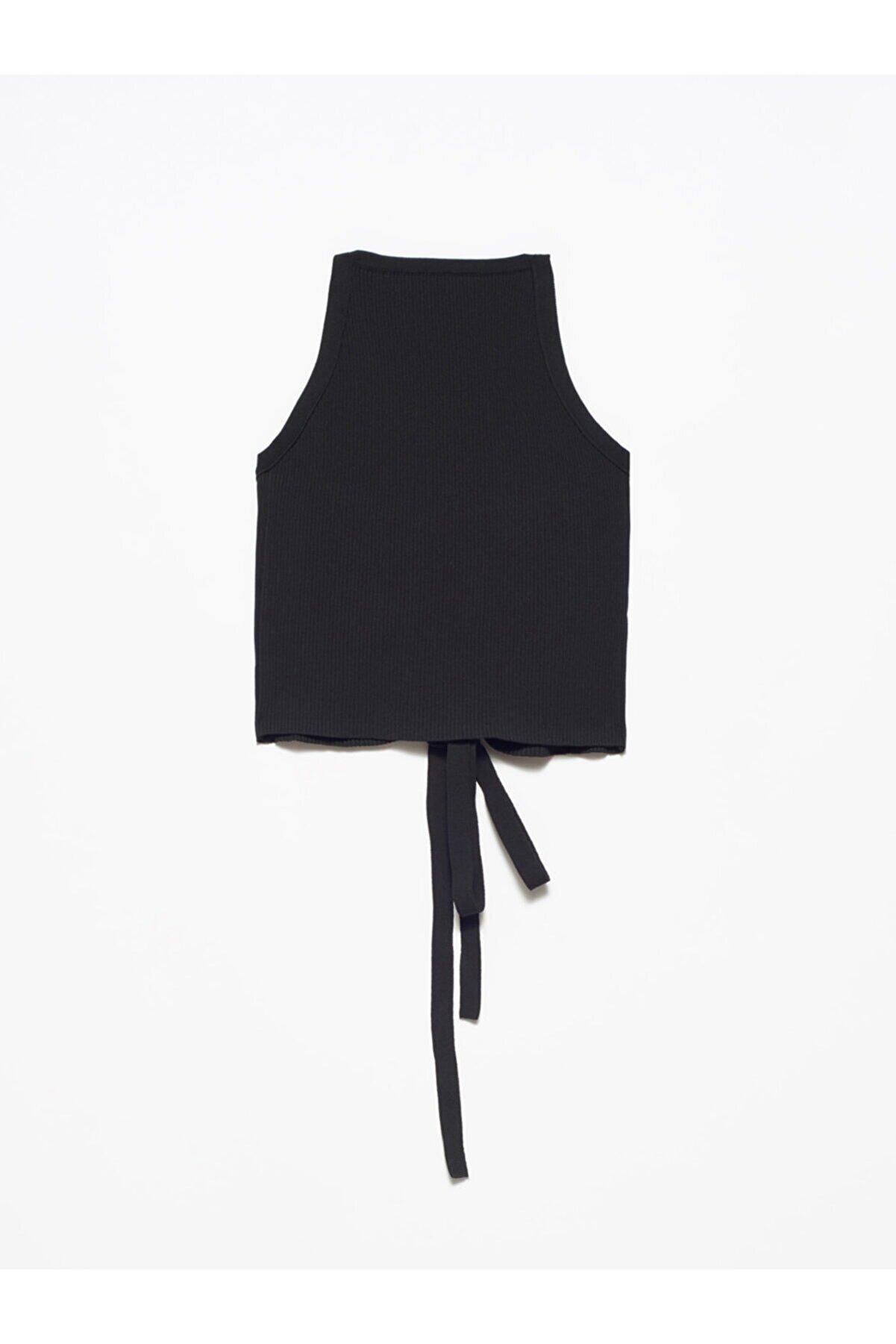 Dilvin Kadın Siyah Arkası Çapraz Askılı Atlet 2856