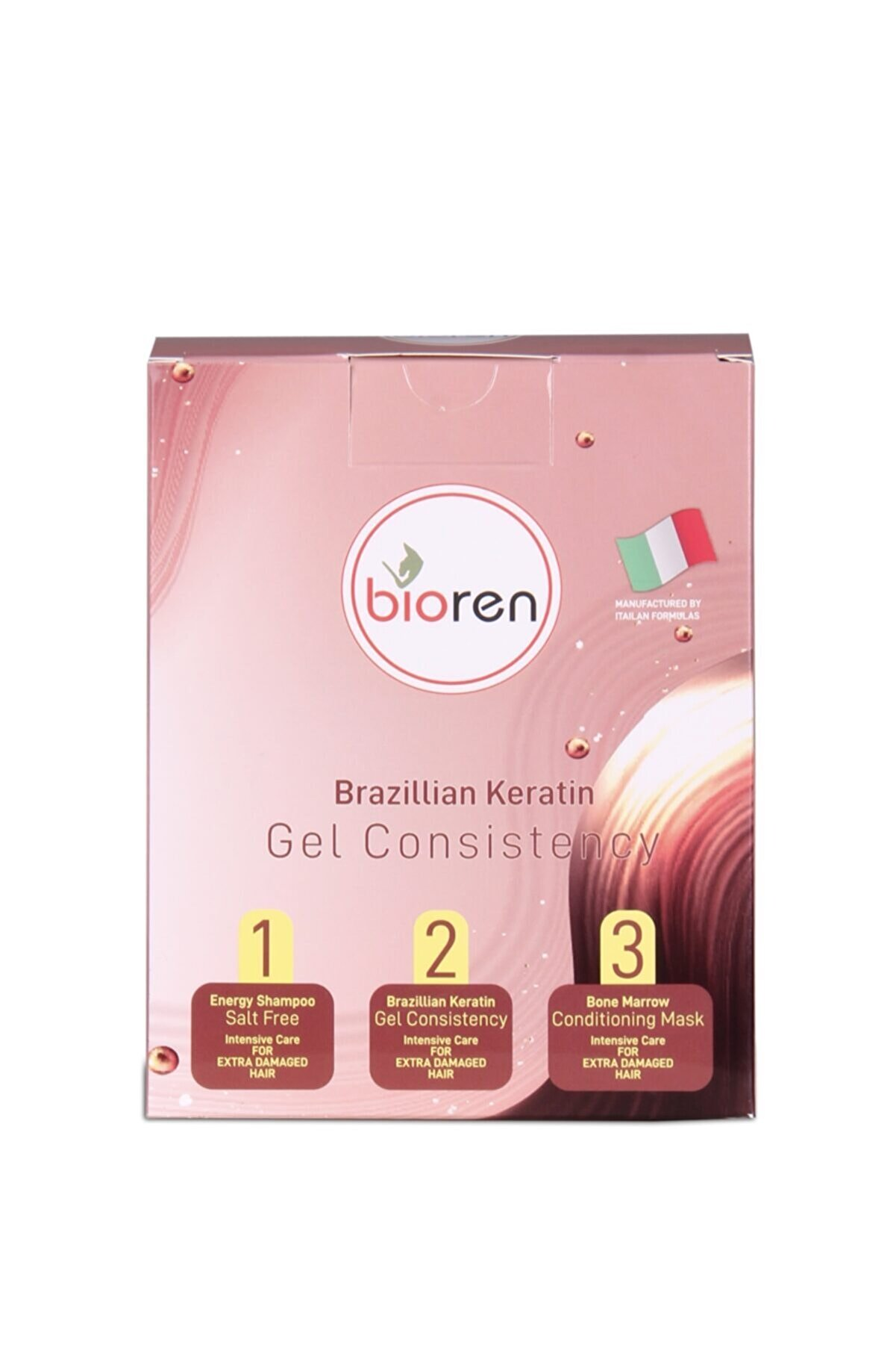 Bioren Brezilya Fönü Saç Düzleştirici Set Jel Keratin Seti 3x100 Ml %100