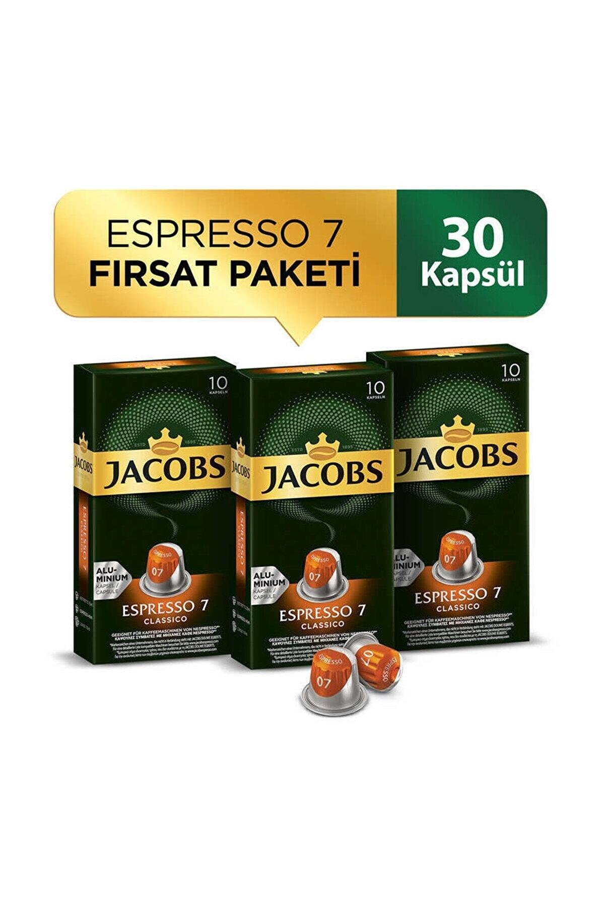 Jacobs Espresso 7 Classico Kapsül Kahve 30 Kapsül