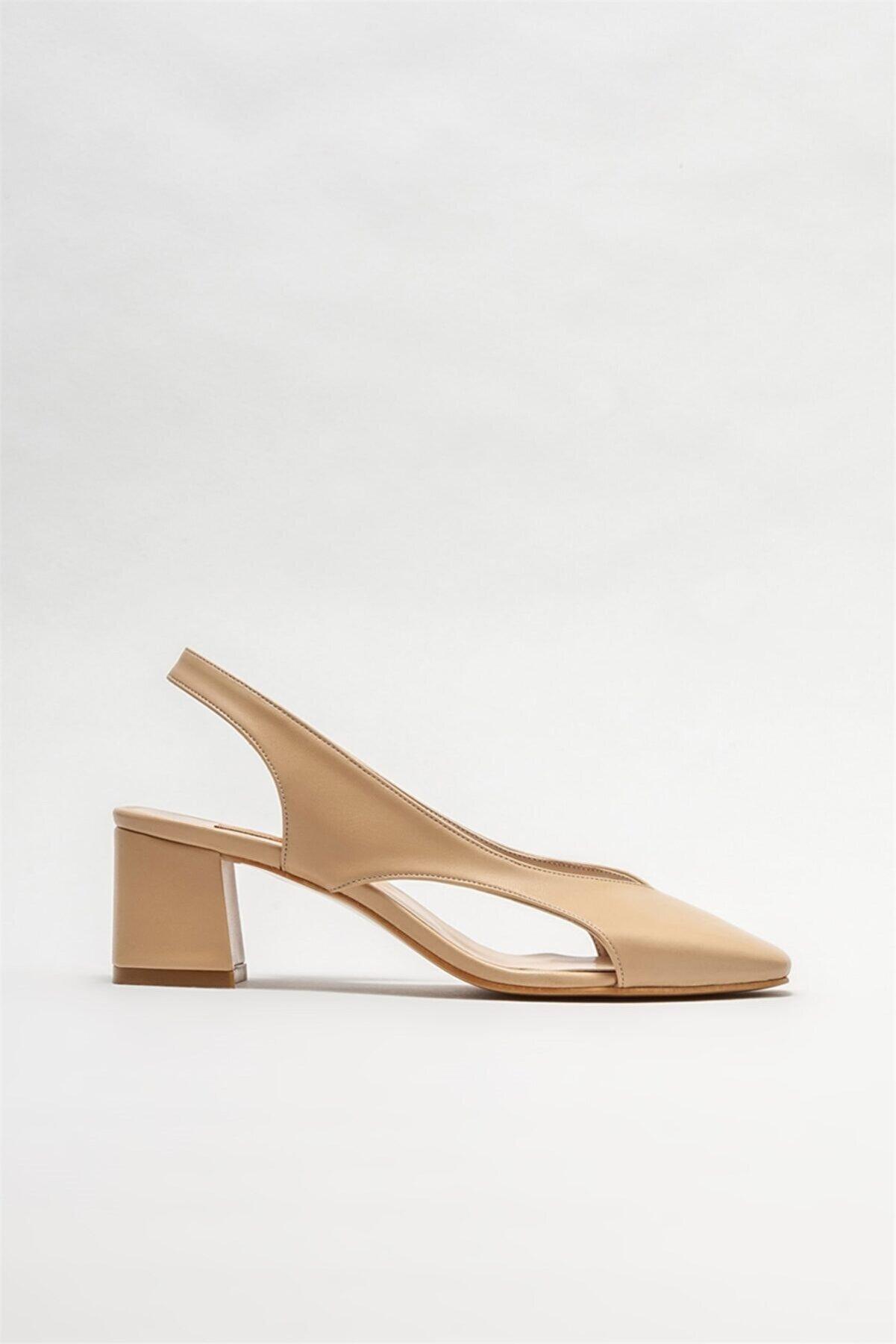 Elle Kadın Naturel Topuklu Ayakkabı