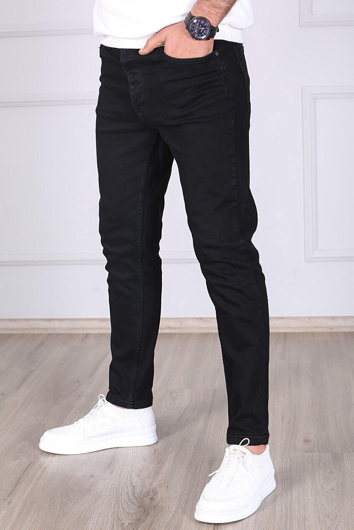 Madmext Siyah Slim Fit Jean 5114