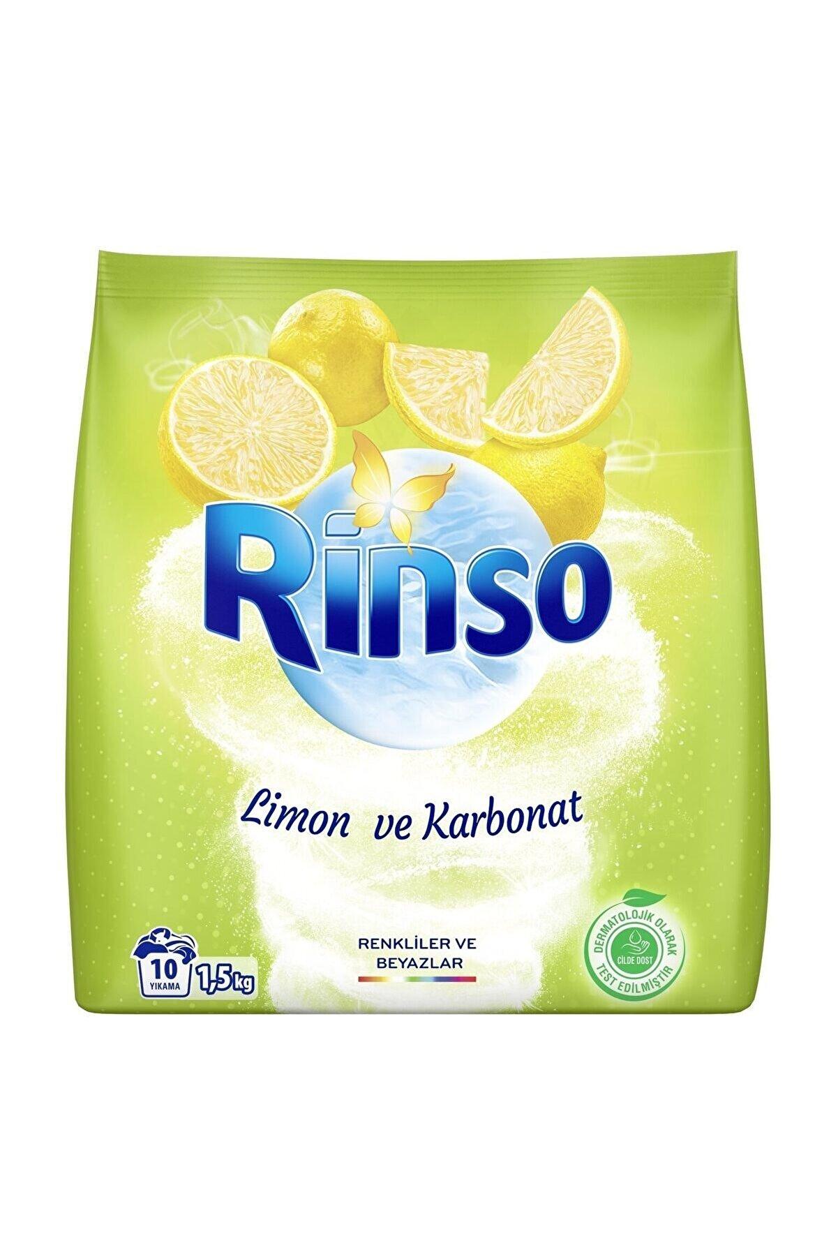 Rinso Limon ve Karbonat Renkliler İçin Toz Çamaşır Deterjanı 1.5 kg 10 Yıkama