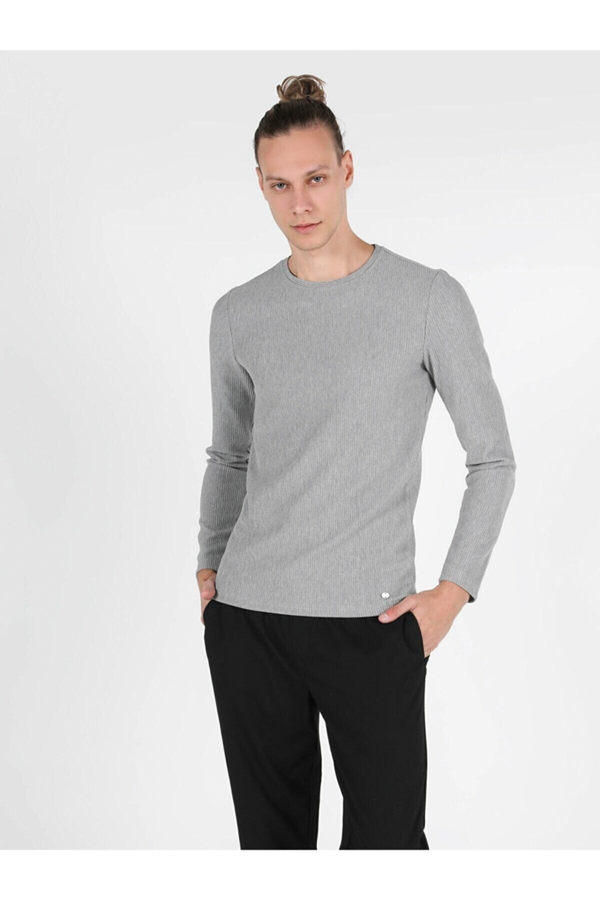 Colin's Erkek Gri Uzun Kol  T-Shirt