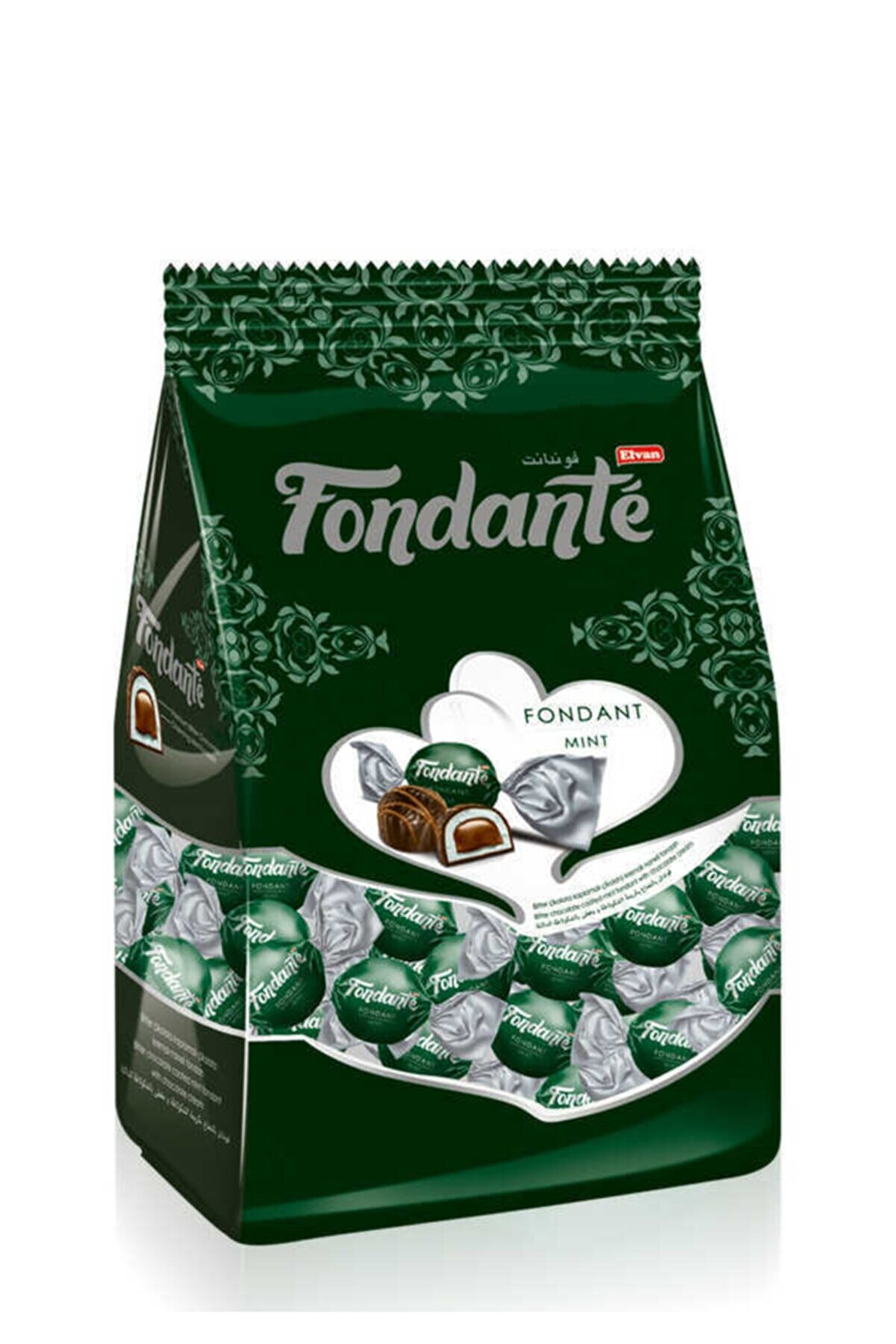 Elvan Fondante Çikolata Dolgulu Naneli 500 Gr. (1 Poşet)