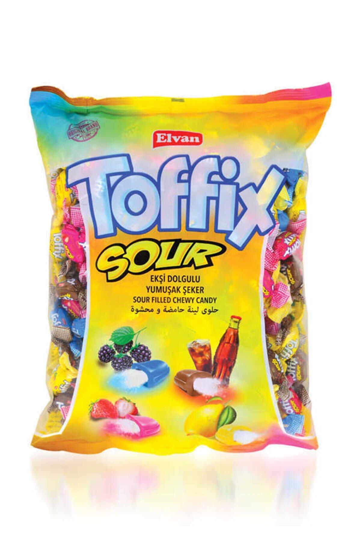 Elvan Toffix Sour Mix Şeker 1000 Gr. (1 Poşet)