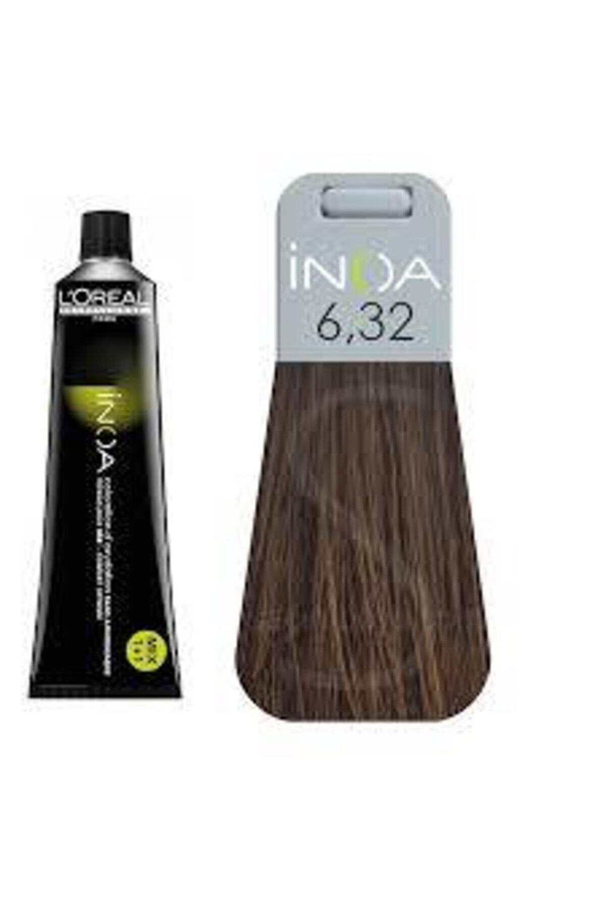 İNOA 6.32 Numara Koyu Kumral Dore Irize Saç Boyası 60 Ml (oksidansız)
