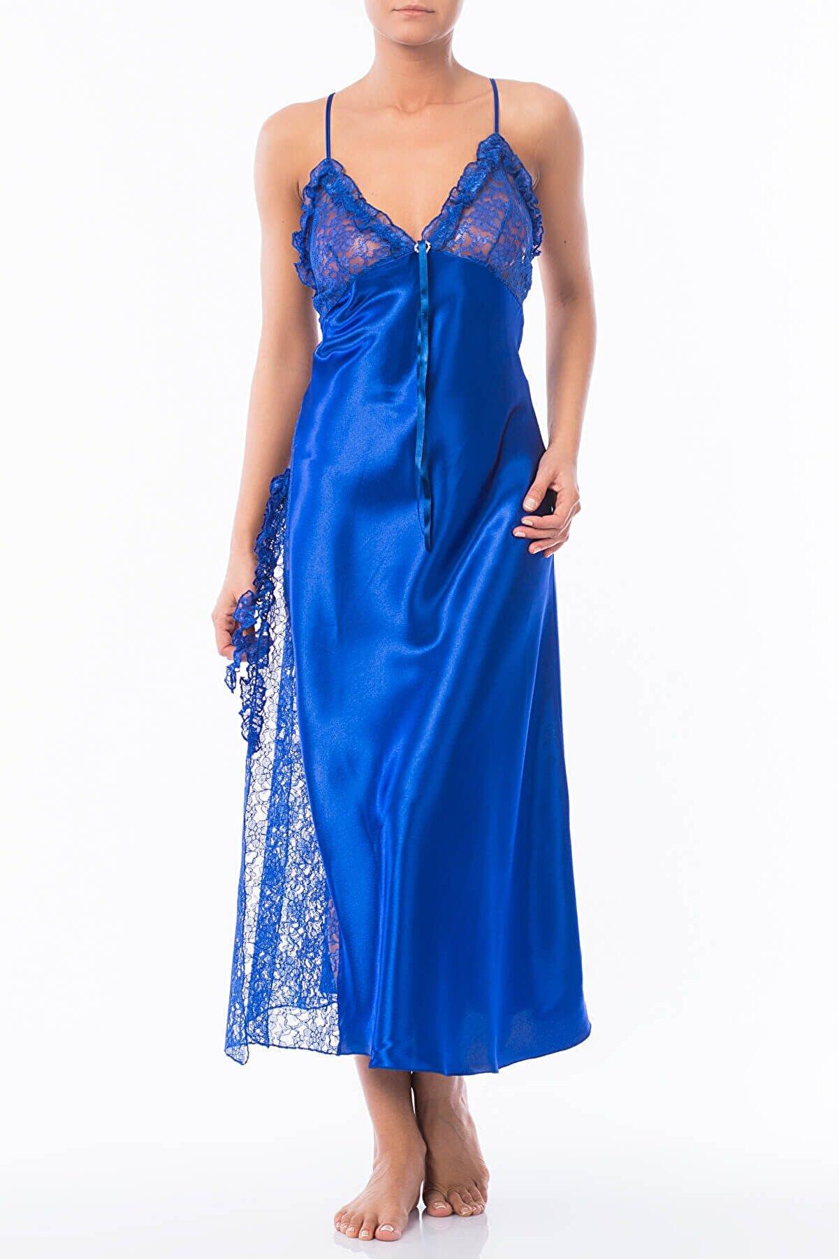 Nbb Kadın Saks Mavi Gecelik NBB 3704