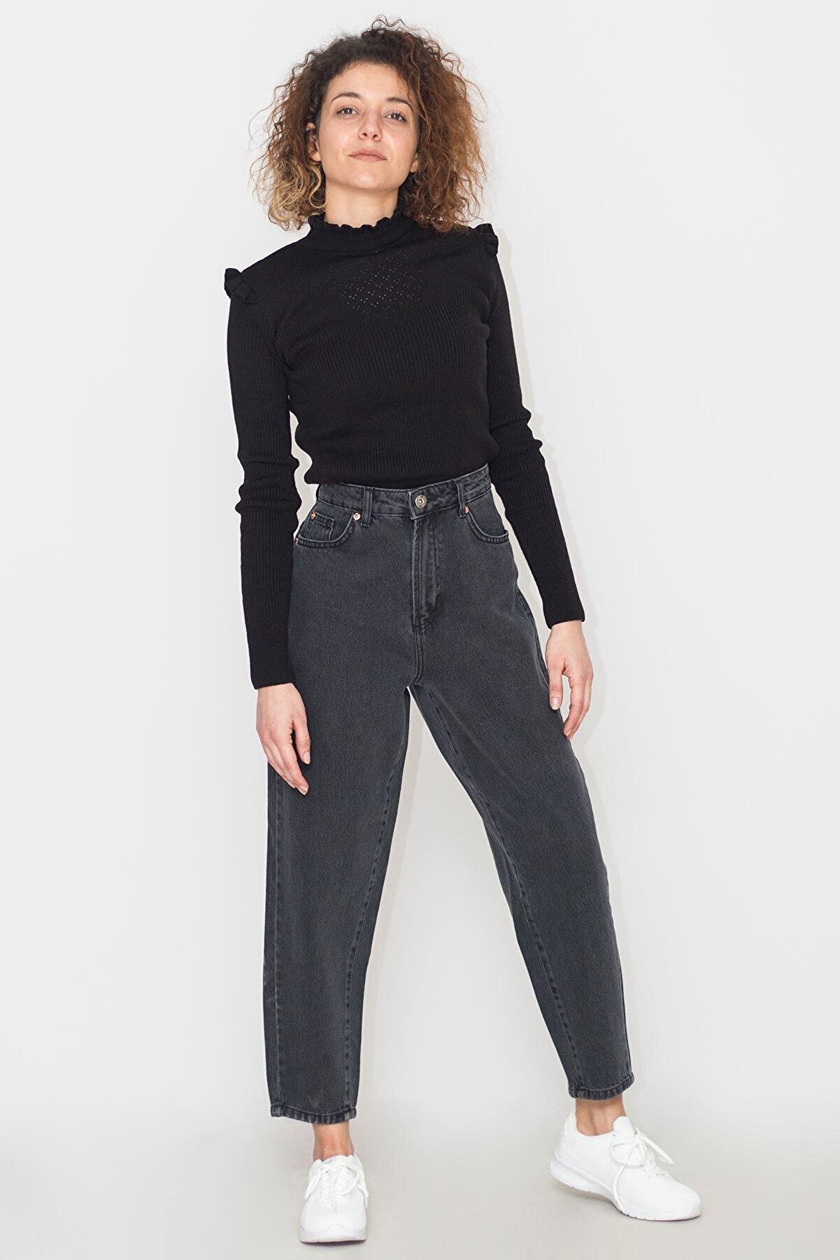 Koton Kadın Siyah Jean Pantolon