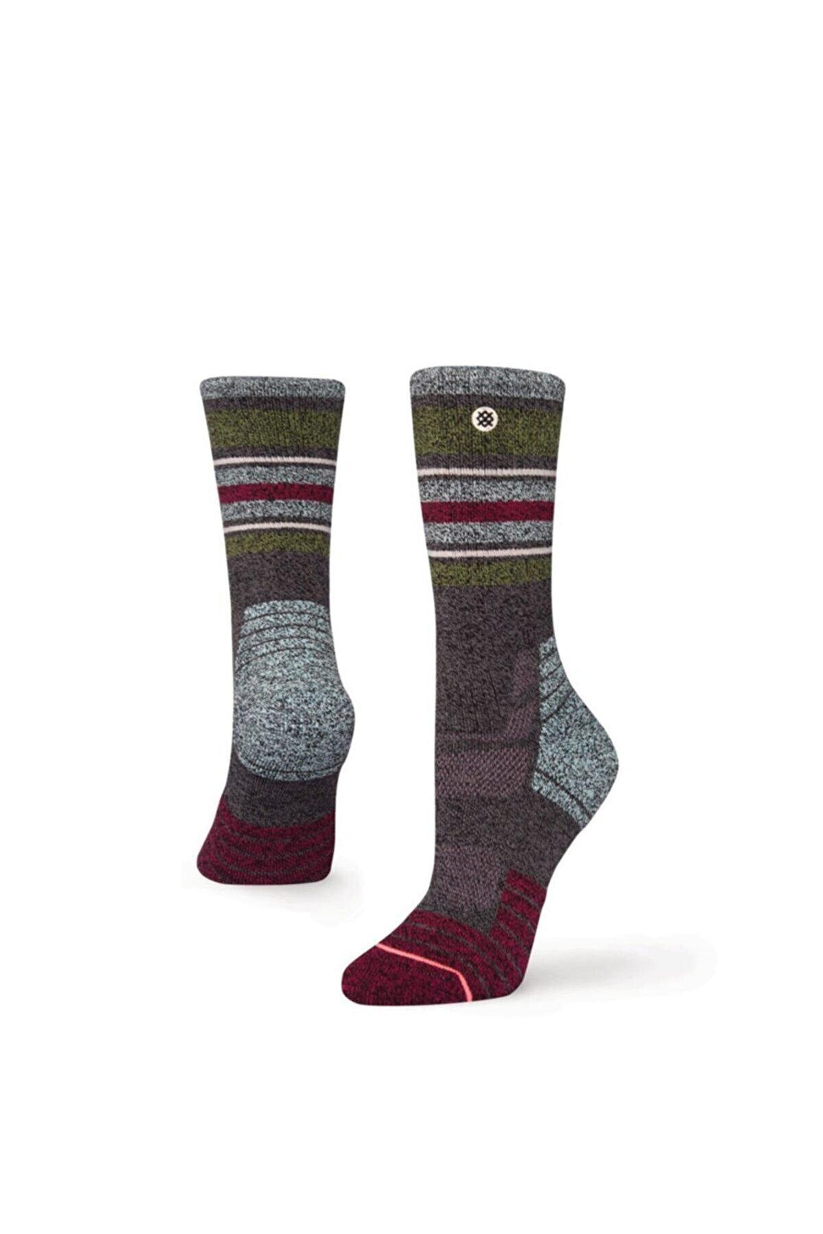 Stance Kadın Bordo Yeşil Soket Çorap