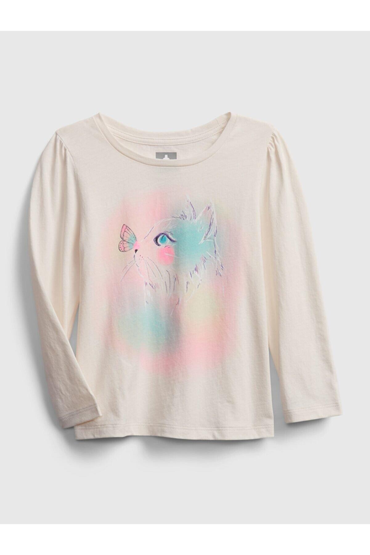 GAP Kız Bebek Uzun Kollu Grafik T-Shirt