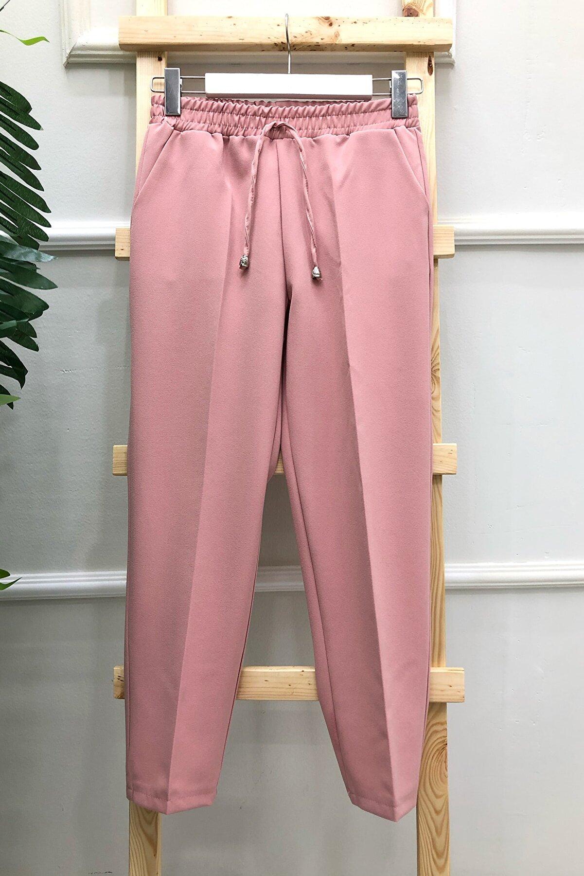 MODAQU Kadın  Cepli Dar Paça Pantolon