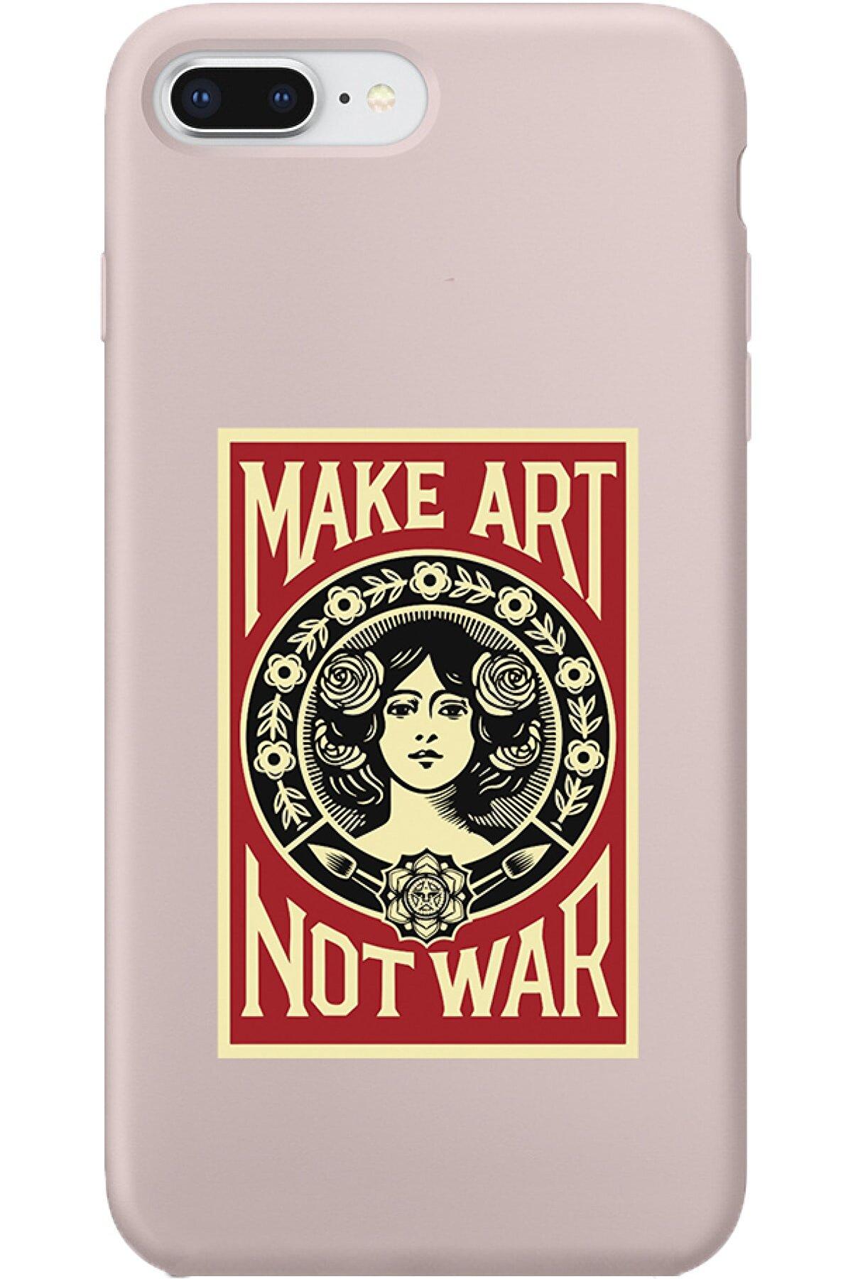 shoptocase Iphone 7 Plus Lansman Make Art Not Wart Desenli Telefon Kılıfı