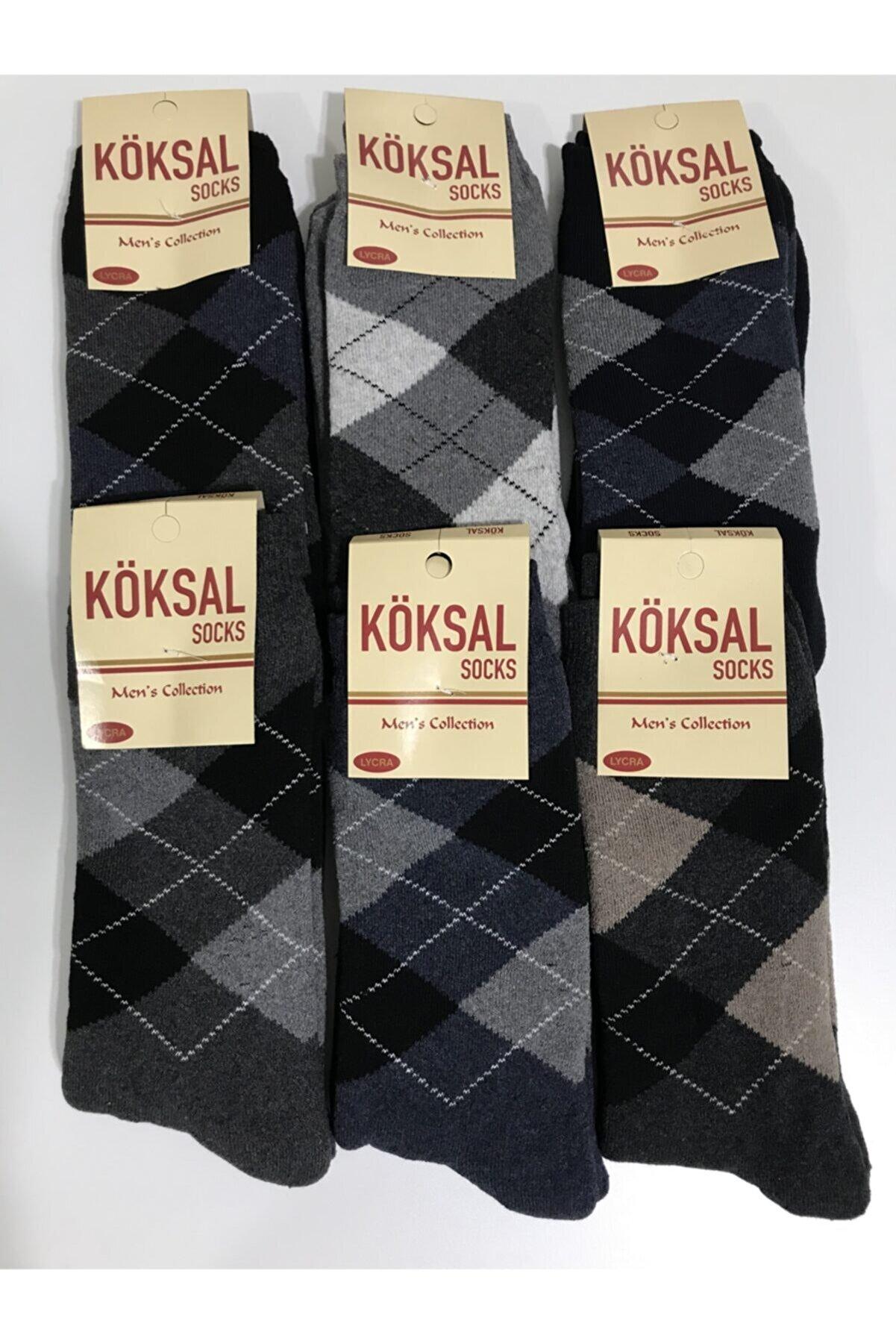 KÖKSAL Erkek 6 Çift Kışlık Yüksek Kaliteli Kalın Çorap