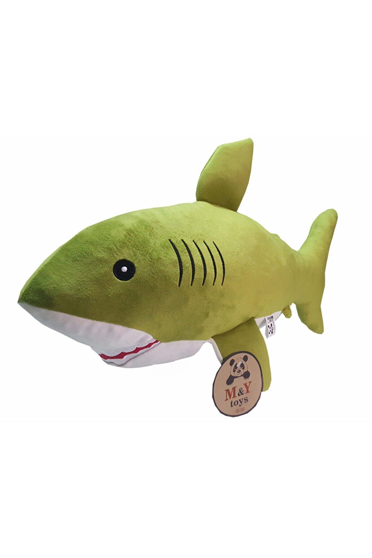 MY toys Uyku Arkadaşım Soft Köpek Balığı Yeşil - 75 Cm.