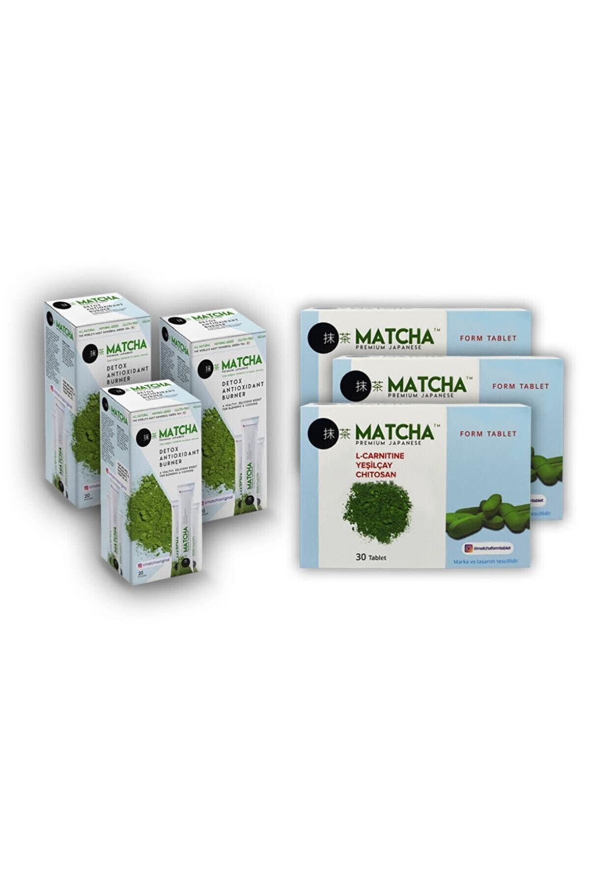 Bilge İlaç Matcha Çayı X Matcha Form Tablet 3'lü Mix Paket