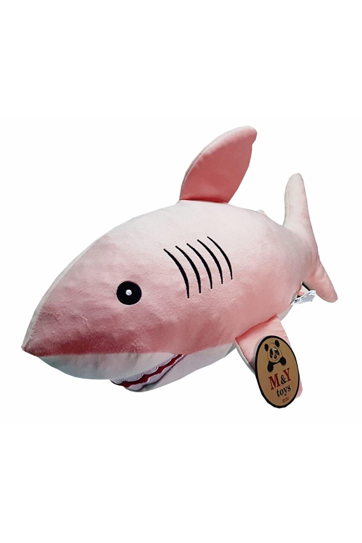 MY toys Uyku Arkadaşım Soft Köpek Balığı Pembe - 75 Cm.