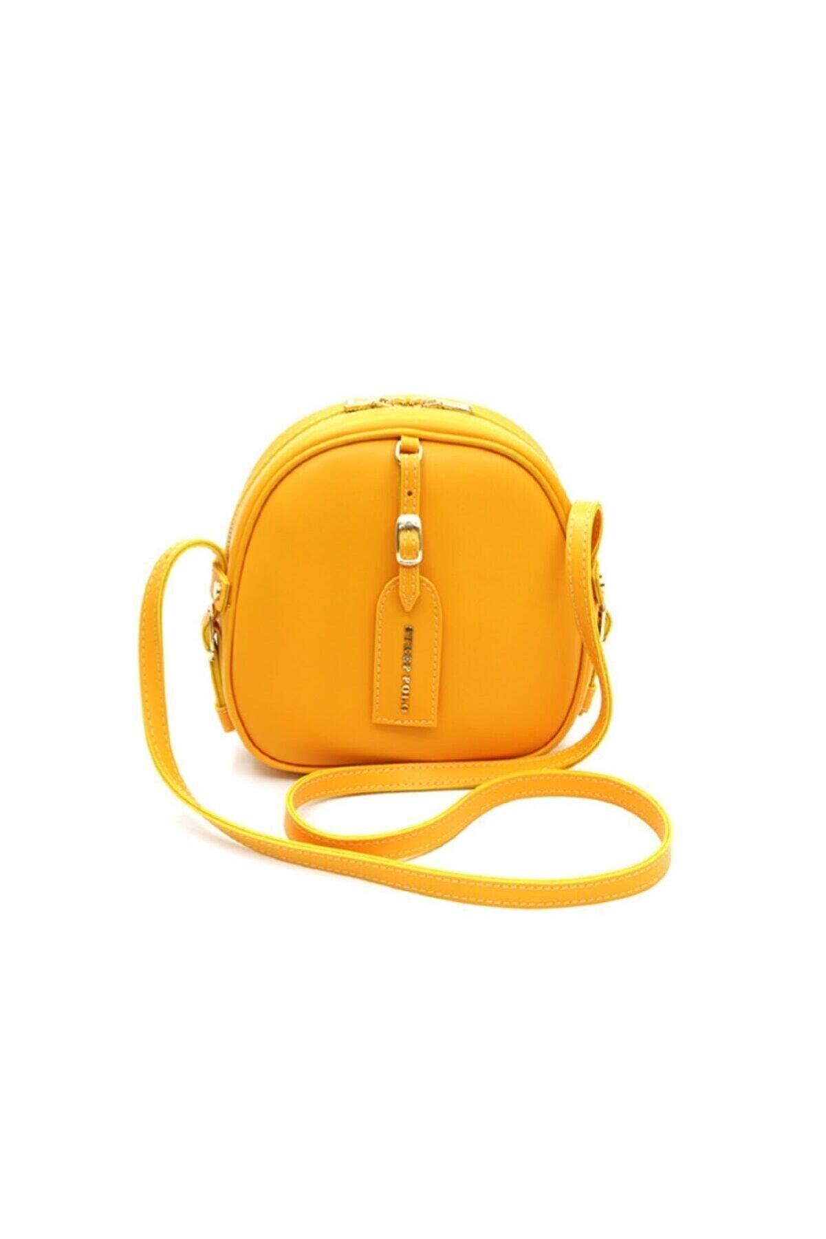 STEEPPOLO Kadın Sarı Omuz Çantası