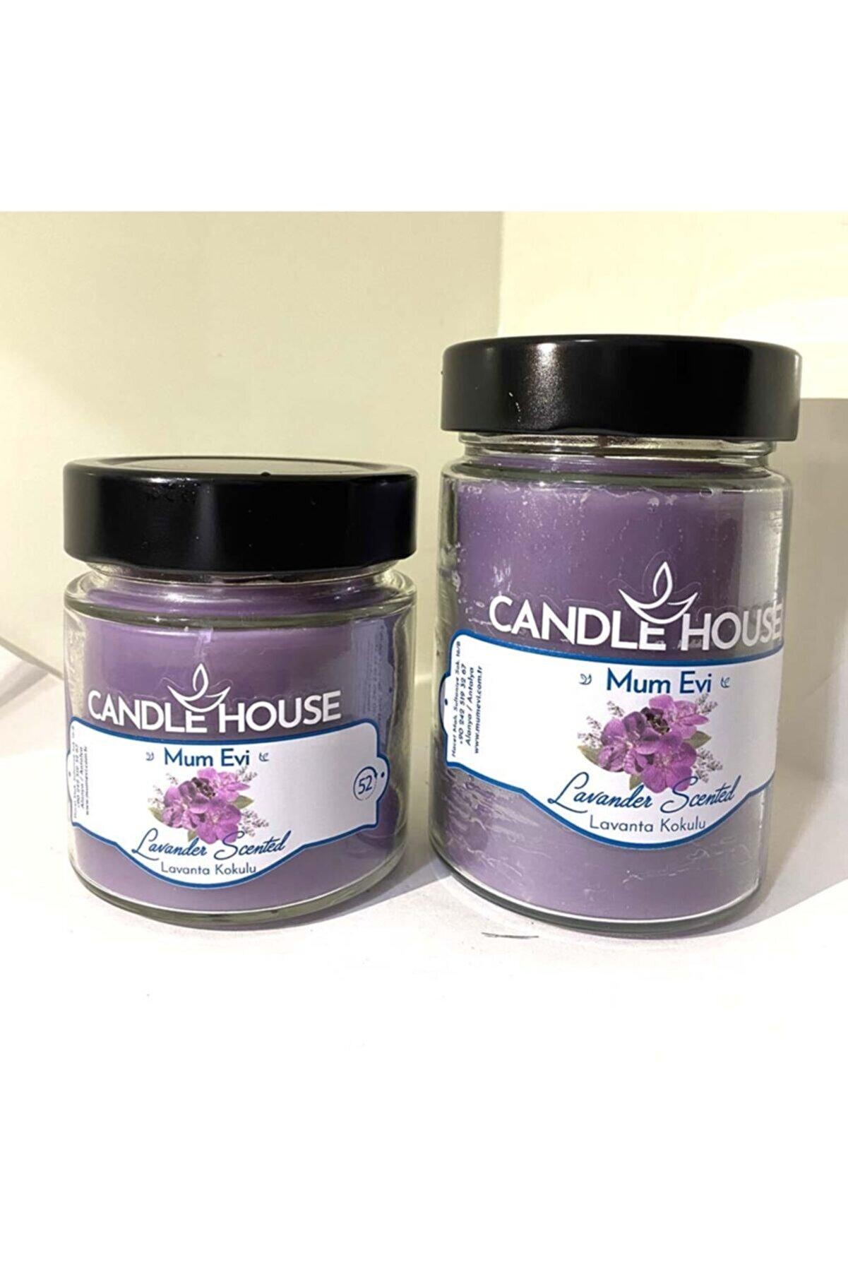 Candle House Lavanta Kokulu Kavanoz Mum 2 Adet