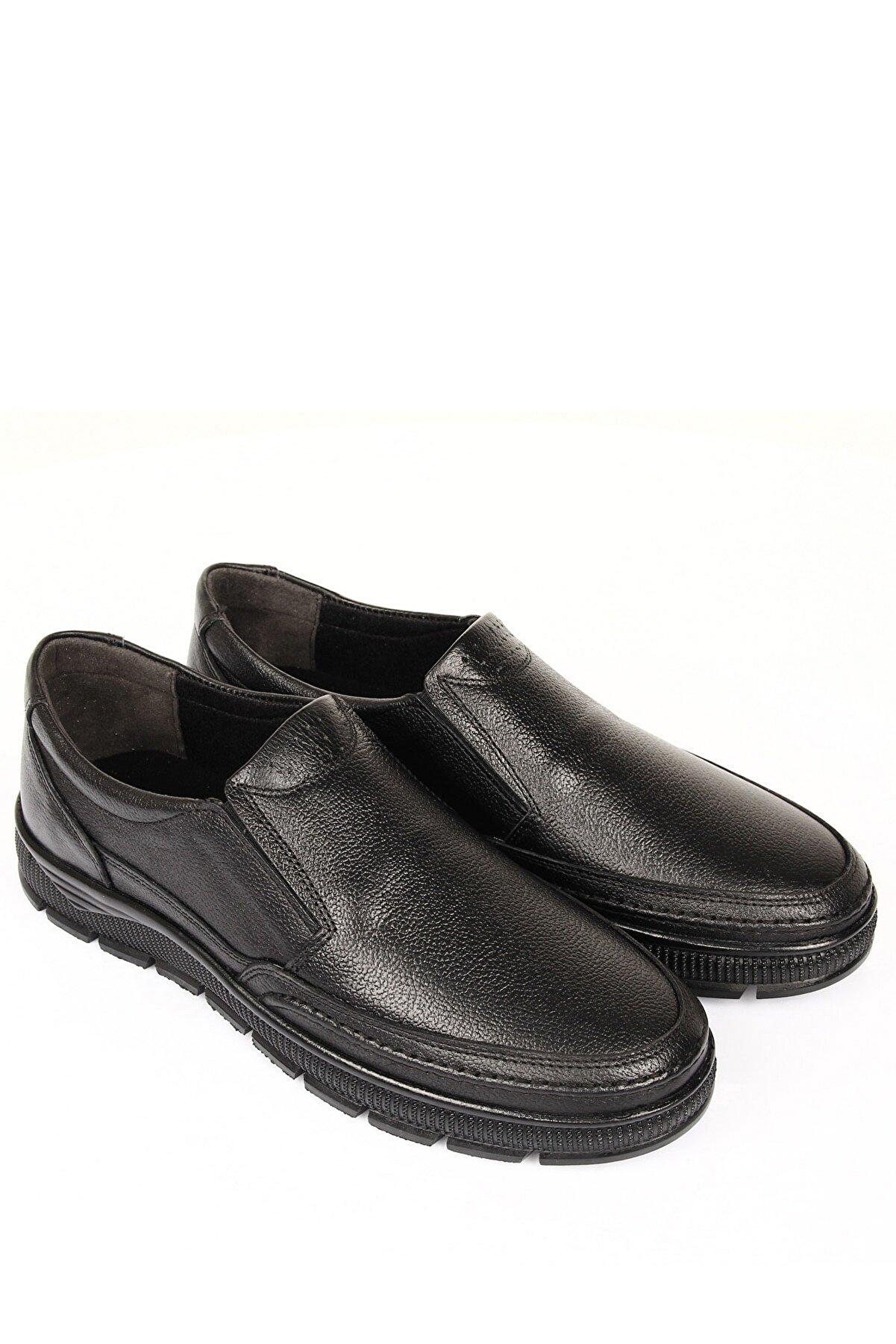 GÖNDERİ(R) Hakiki Deri Siyah Floter Erkek Günlük (Casual) Ayakkabı 01312