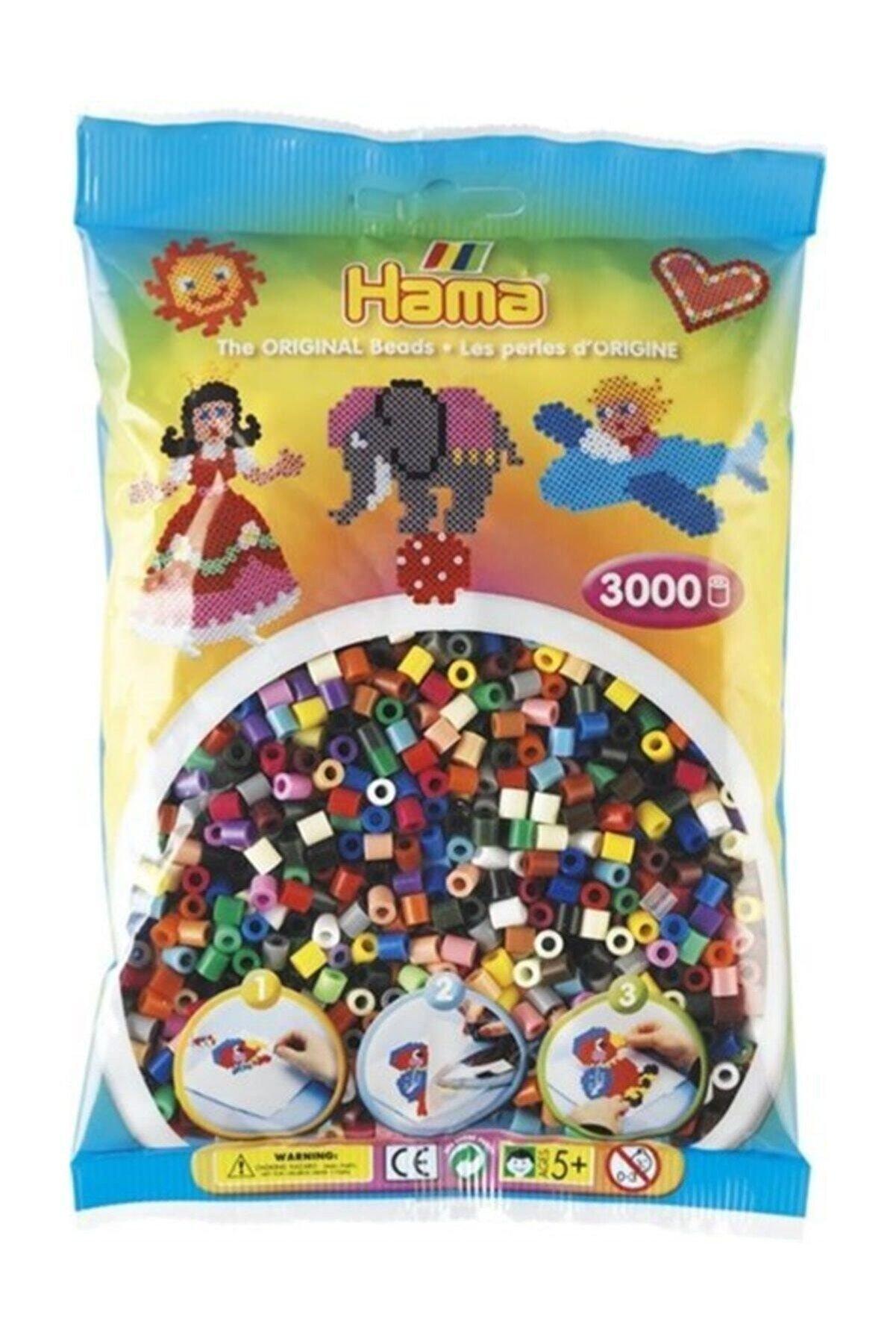 Hama Midi Boncuk 3.000'lik - 22 Renk