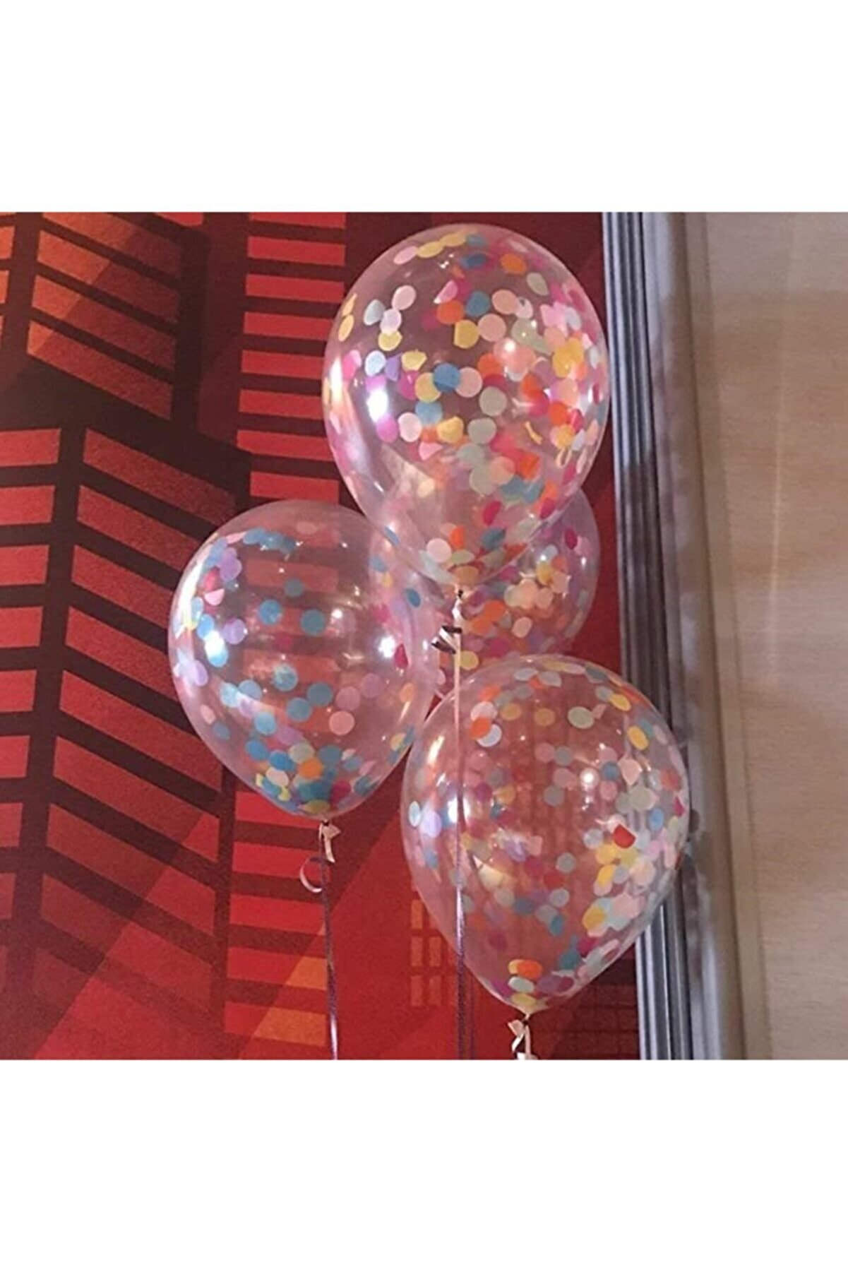 webcenter 10 Adet Şeffaf Balon + Karışık Balon Konfetisi