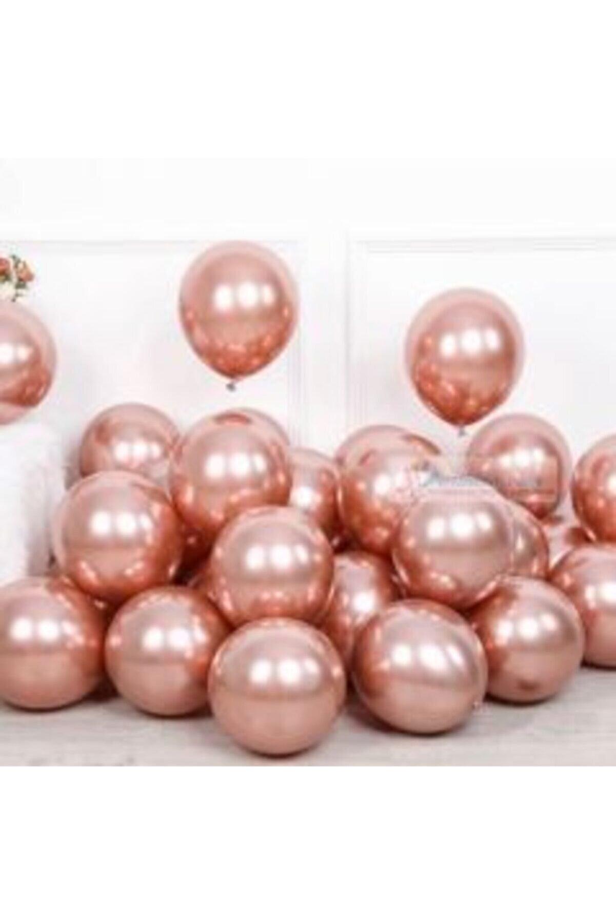 Deniz Yıldızı Sanat Krom Parlak Metalik Balon 10'lu Rose Gold