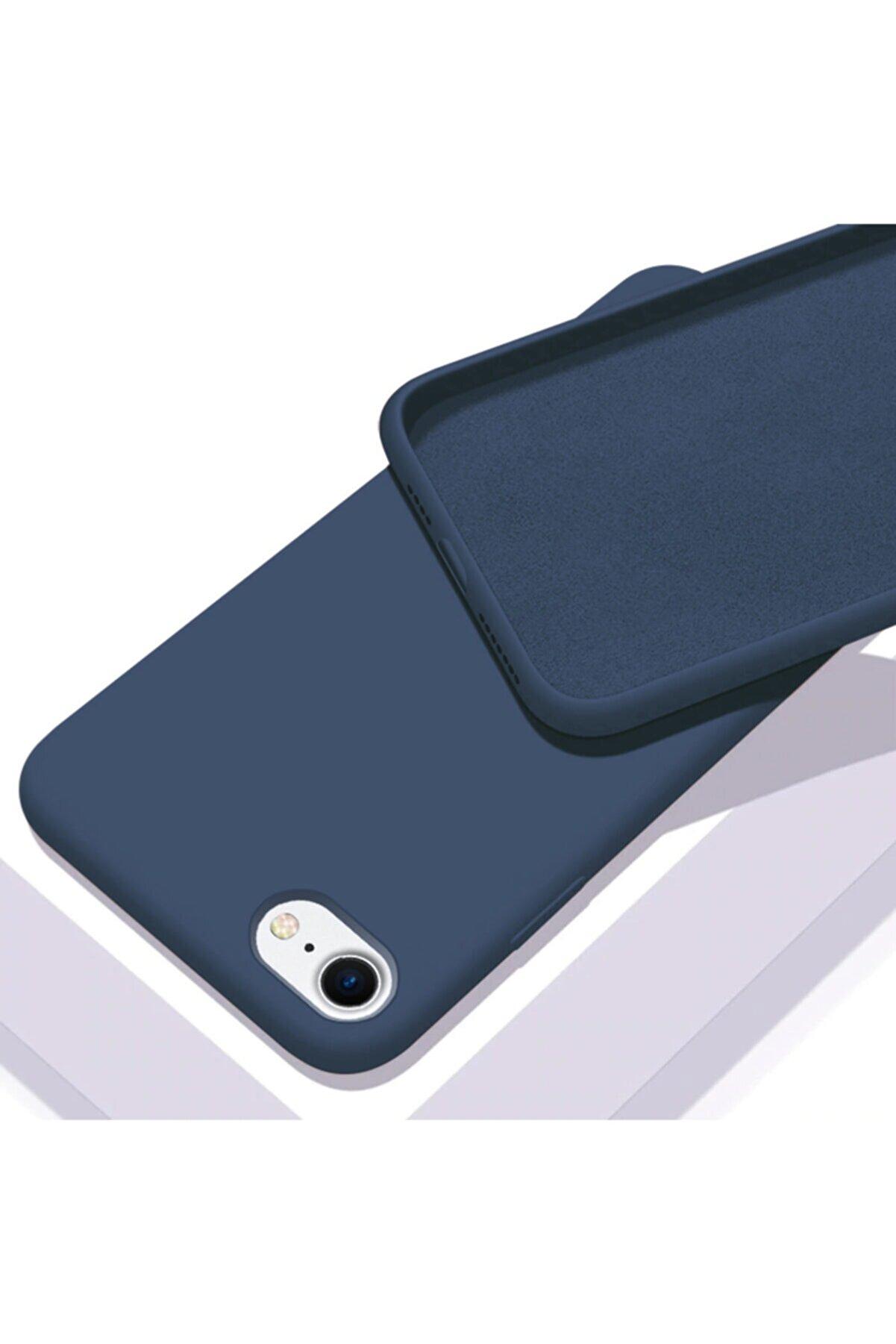 Zengin Çarşım Apple Iphone 6 - 6s Içi Kadife Lansman Silikon Kılıf Lacivert