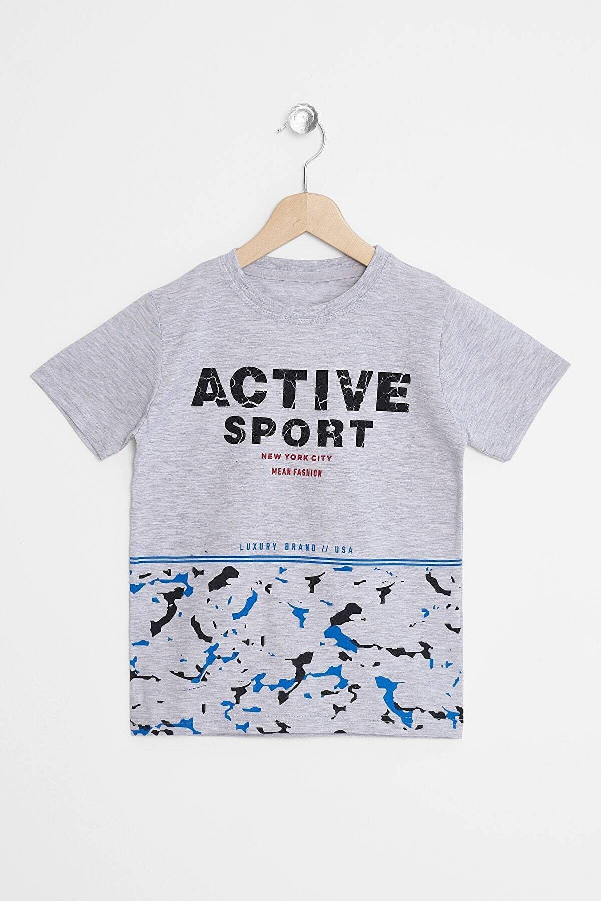 zepkids Erkek Çocuk T-shirt Active Sport Baskılı 8-12 Yaş