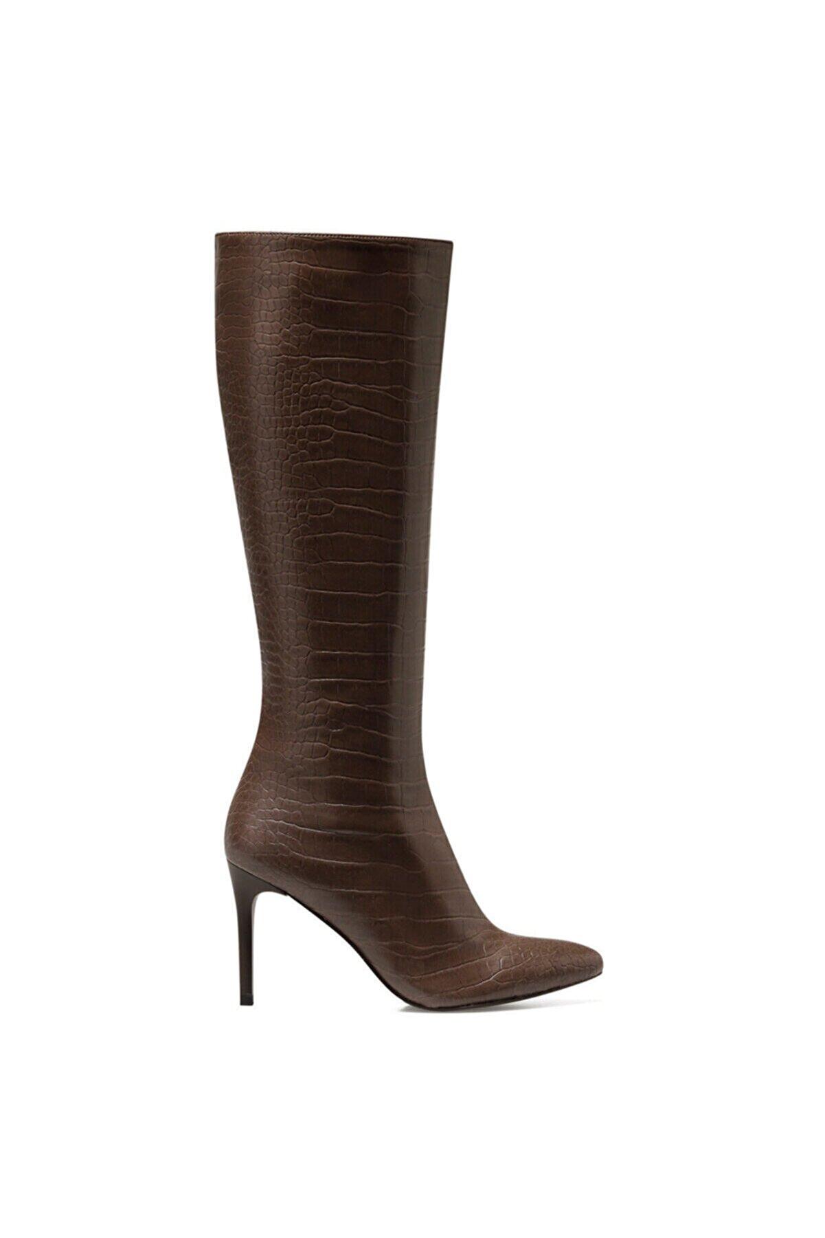 Nine West KAREN-CR Kahverengi Kadın Ökçeli Çizme 100581991
